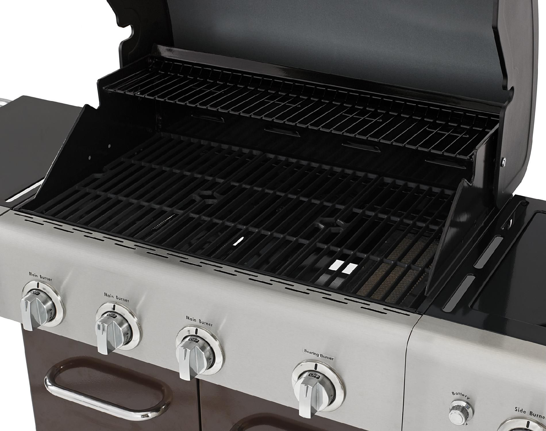 Kenmore 4-Burner LP Mocha Gas Grill w/ Searing Burner & Side Burner