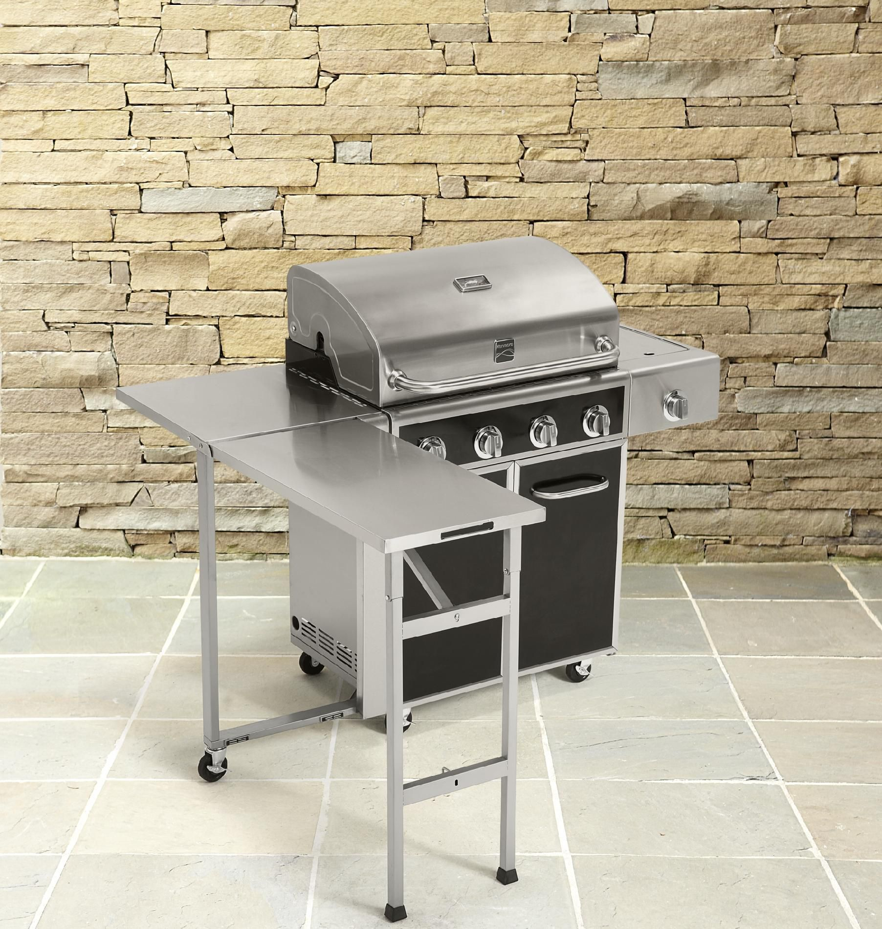 Kenmore 4 Burner Gas Grill with Folding Side Table *Limited Availability
