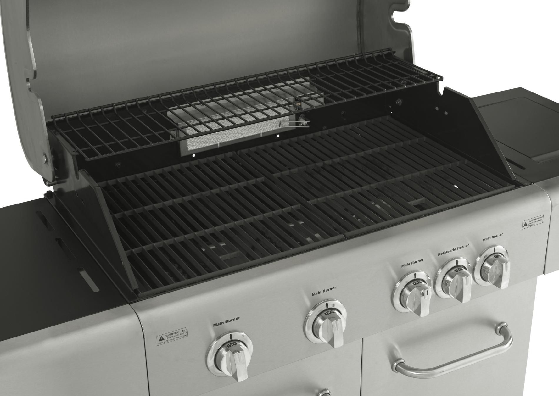Kenmore 4 Burner LP Gas Grill with Rotisserie Burner and Side Burner
