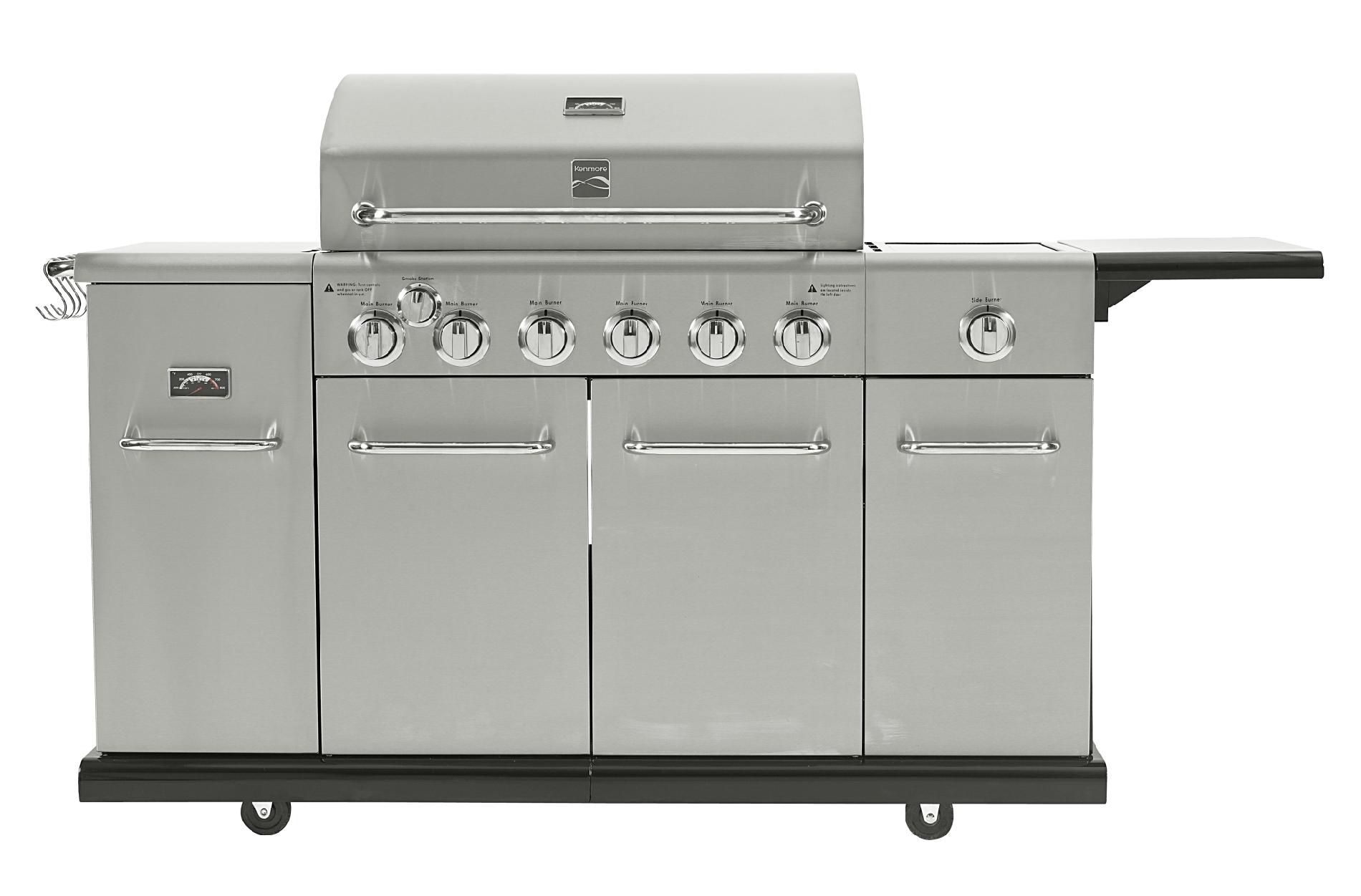 Kenmore 6 Burner Stainless Steel front Gas Grill With Smoker *Limited Availability