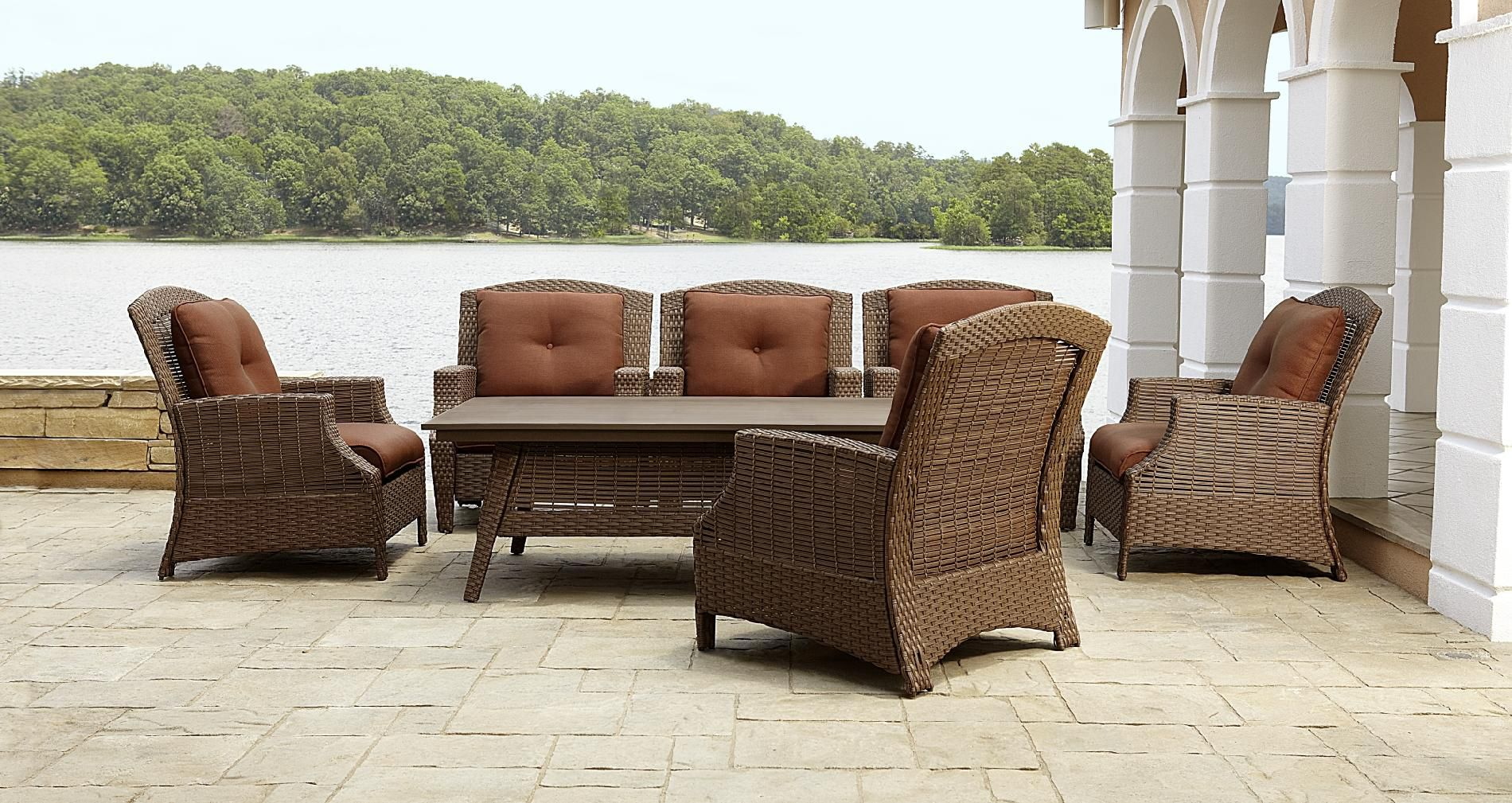 La-Z-Boy Outdoor Bryson 7pc Chat Set