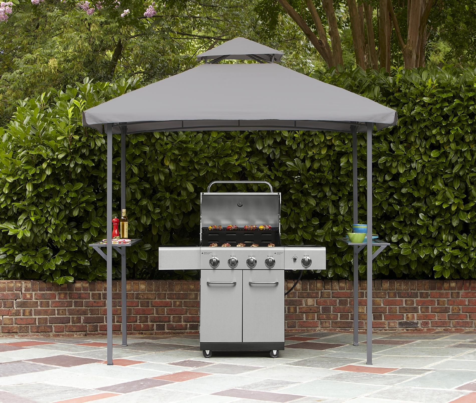 Garden Oasis 5'x8' Grill Gazebo with Glass Bar