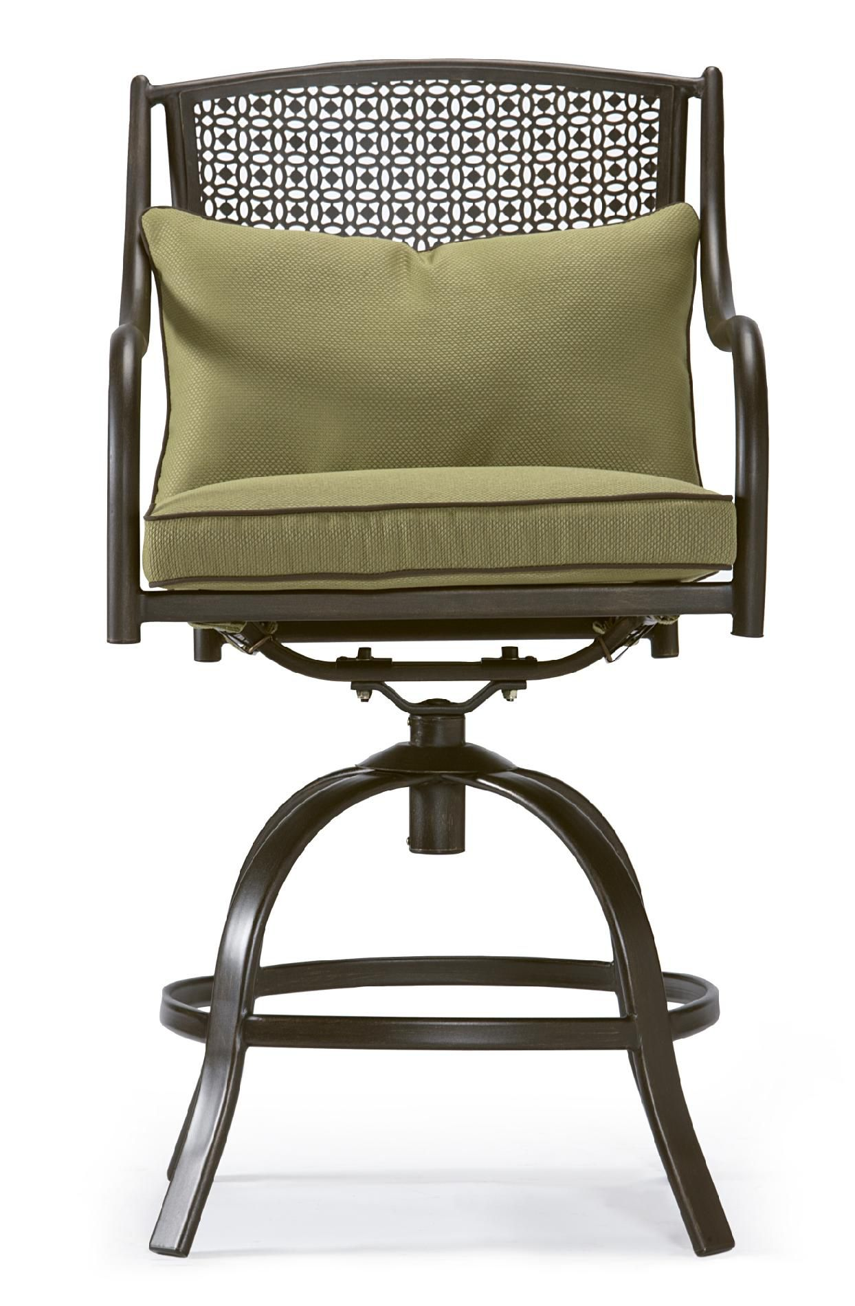 Garden Oasis Bowery 3pc Stamped Back Tall Bistro Set with Swivel Chairs *Limited Availability