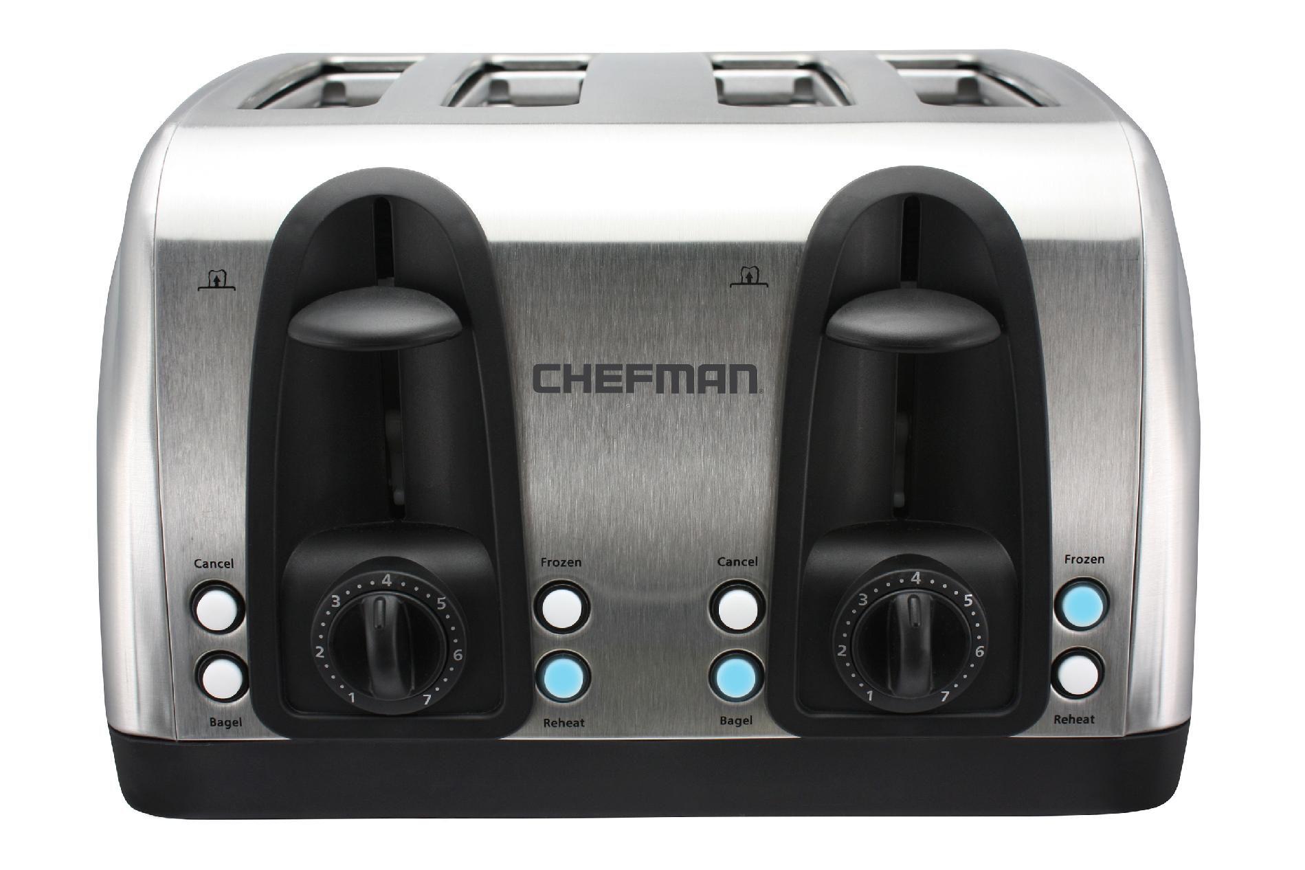 CHEFMAN Chefman 4-Slice Stainless Steel Toaster