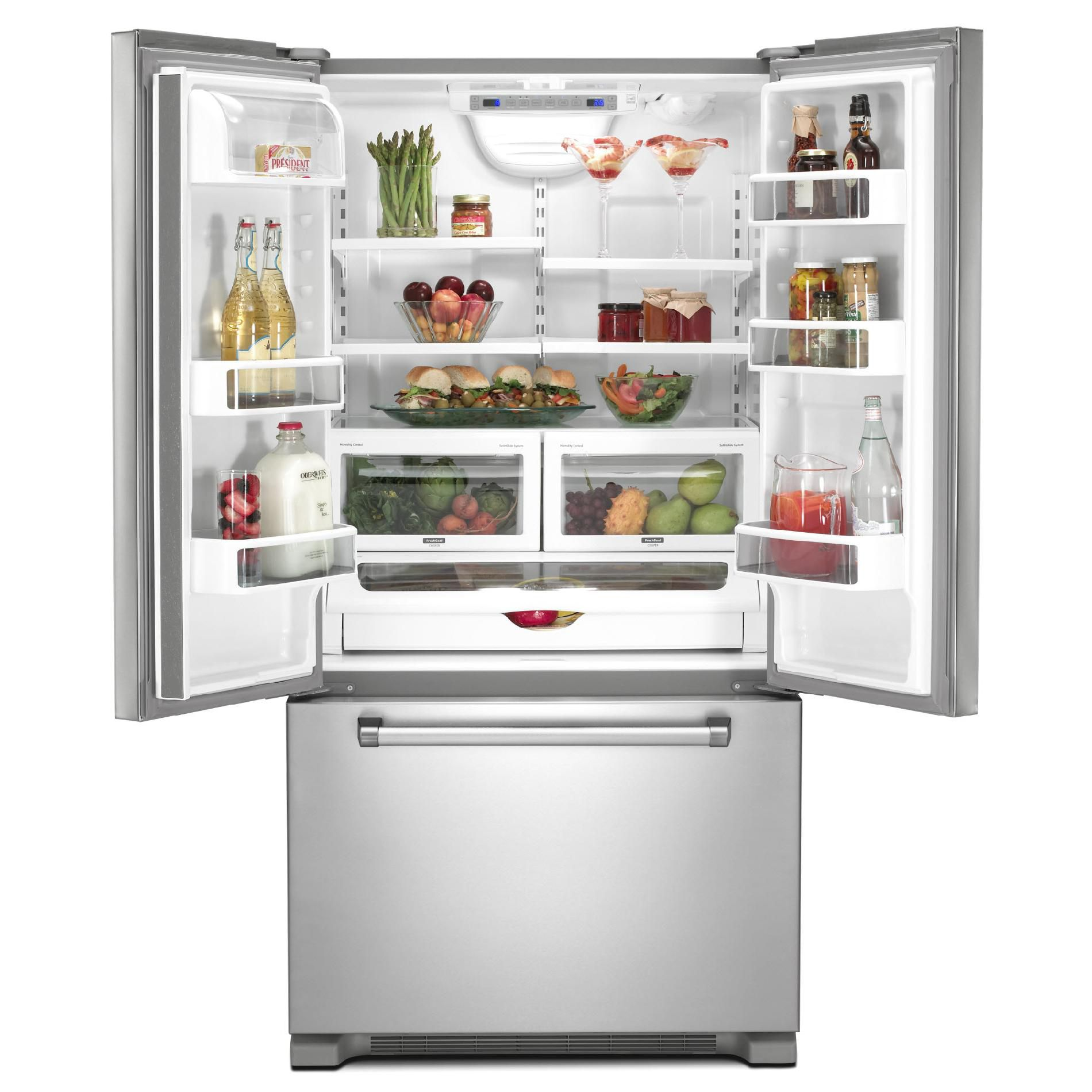 KitchenAid 21.8 cu. ft. Counter-Depth French-Door  Bottom-Freezer Refrigerator
