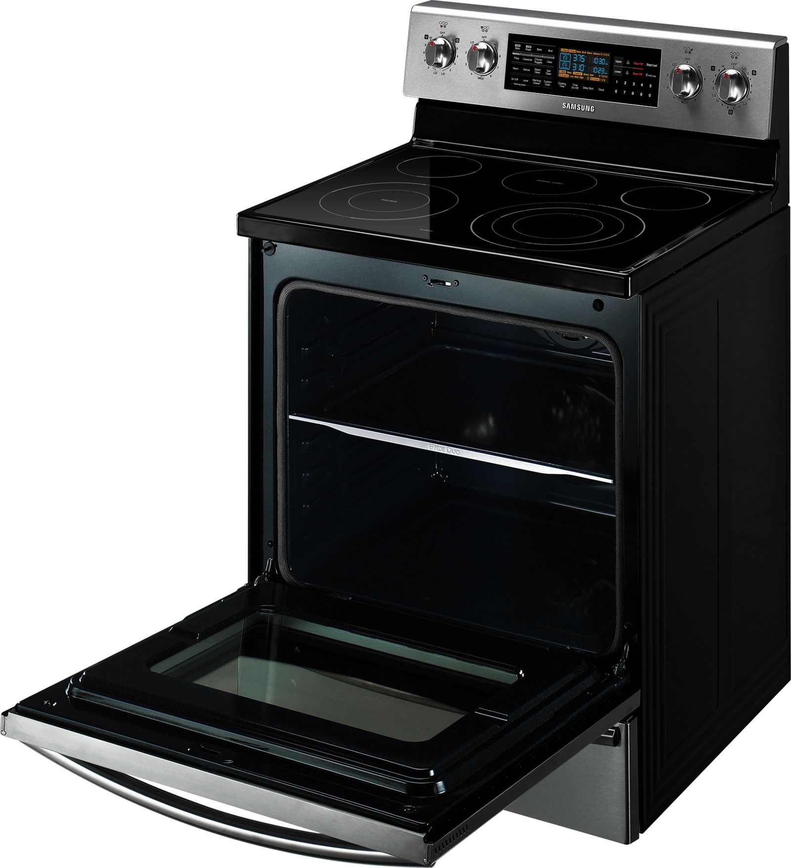 Samsung 6.6 cu. ft. Dual-Oven Electric Range - Stainless Steel