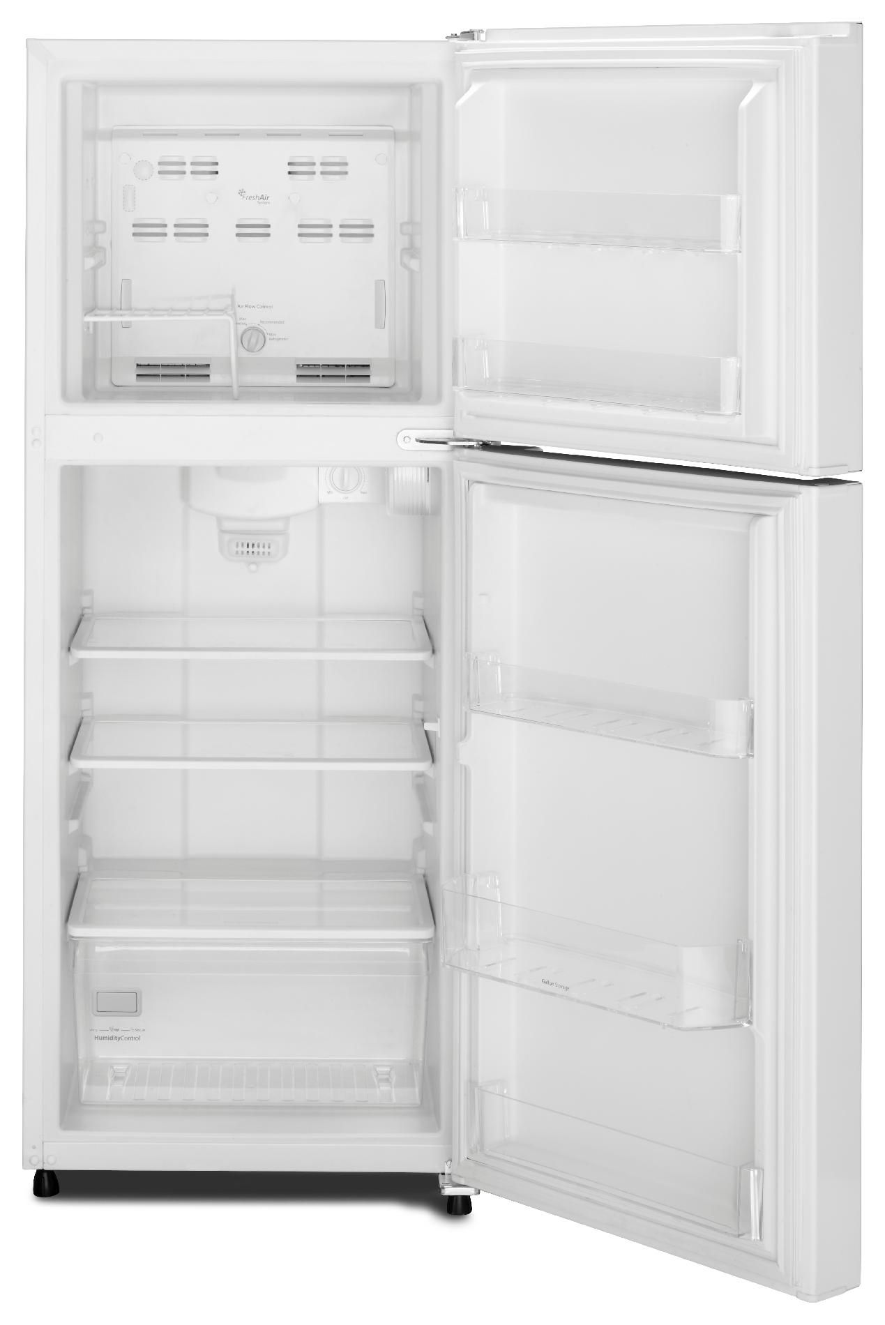 Whirlpool 10.7 cu. ft. Top-Freezer Refrigerator w/ Gallon Door Bin - White