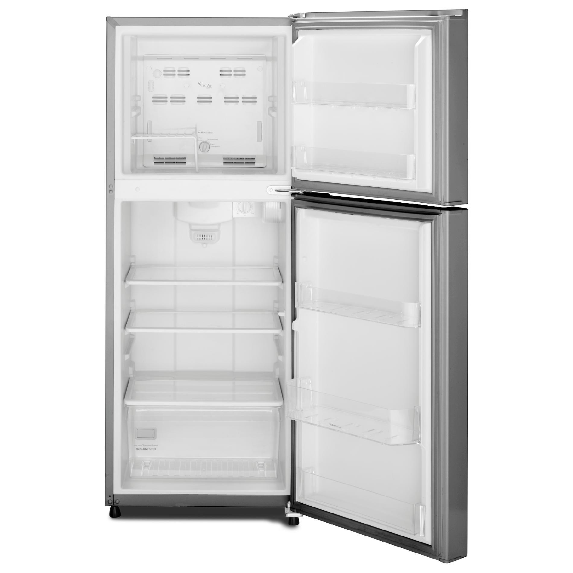 Whirlpool 10.7 cu. ft. Top-Freezer Refrigerator w/ Gallon Door Bin - Mono Satina Steel