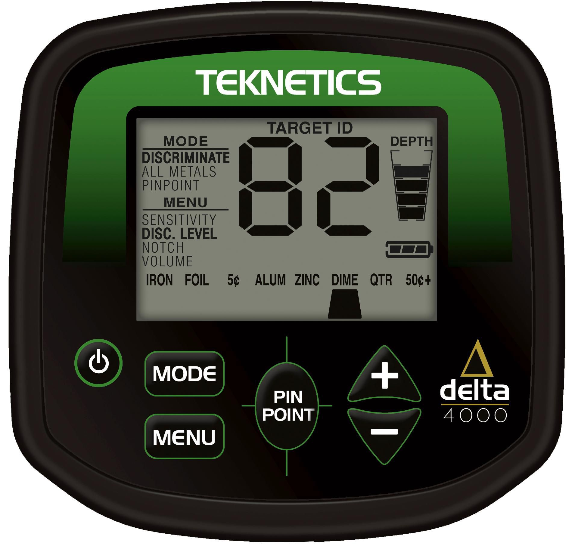 Teknetics Delta 4000 Metal Detector with Accessory Kit