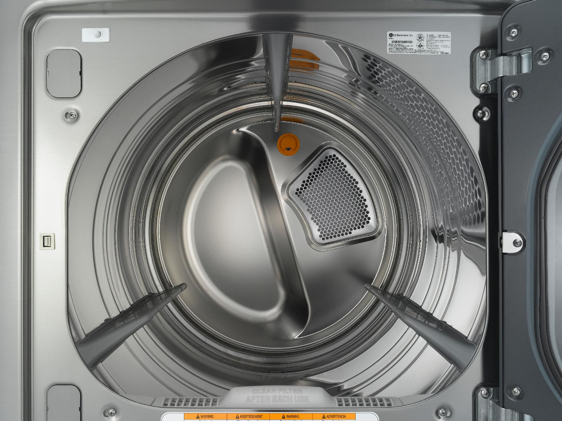 LG 7.3 cu. ft. Steam Electric Dryer with Smart Thinq™ Technology - Graphite Steel