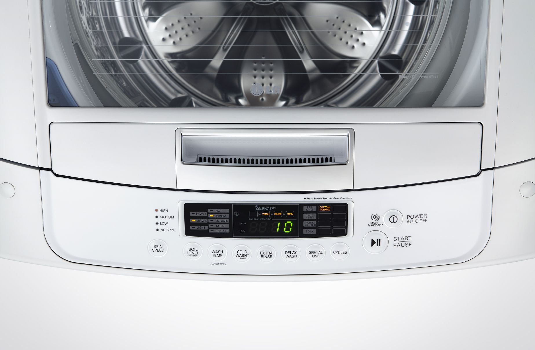 LG WT1101CW 4.1 cu. ft. High-Efficiency Top-Load Washer - White