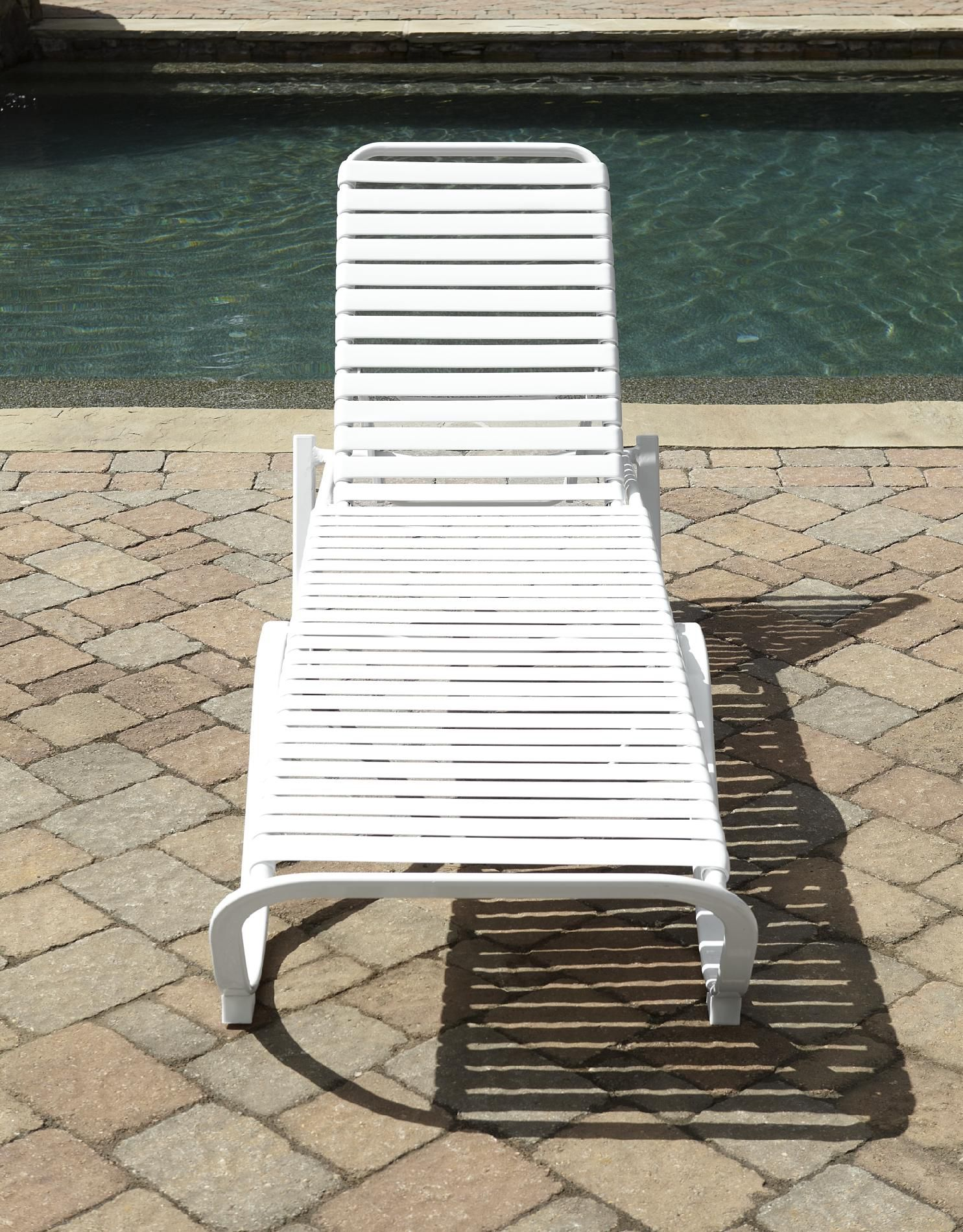 Grand Resort Aluminum PVC Strap Lounge* Limited Availability