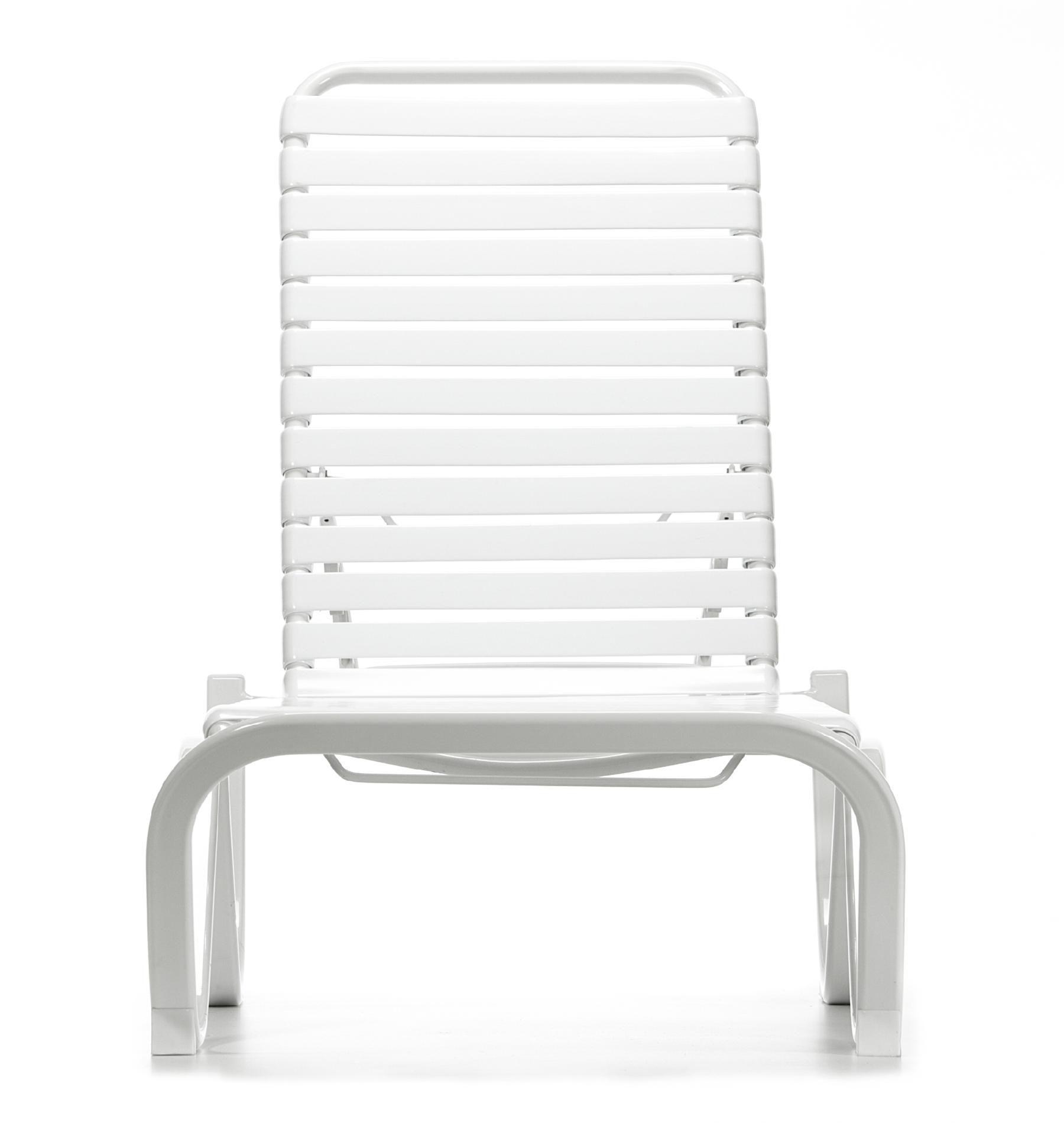 Grand Resort Aluminum PVC Strap Lounge *Limited Availability