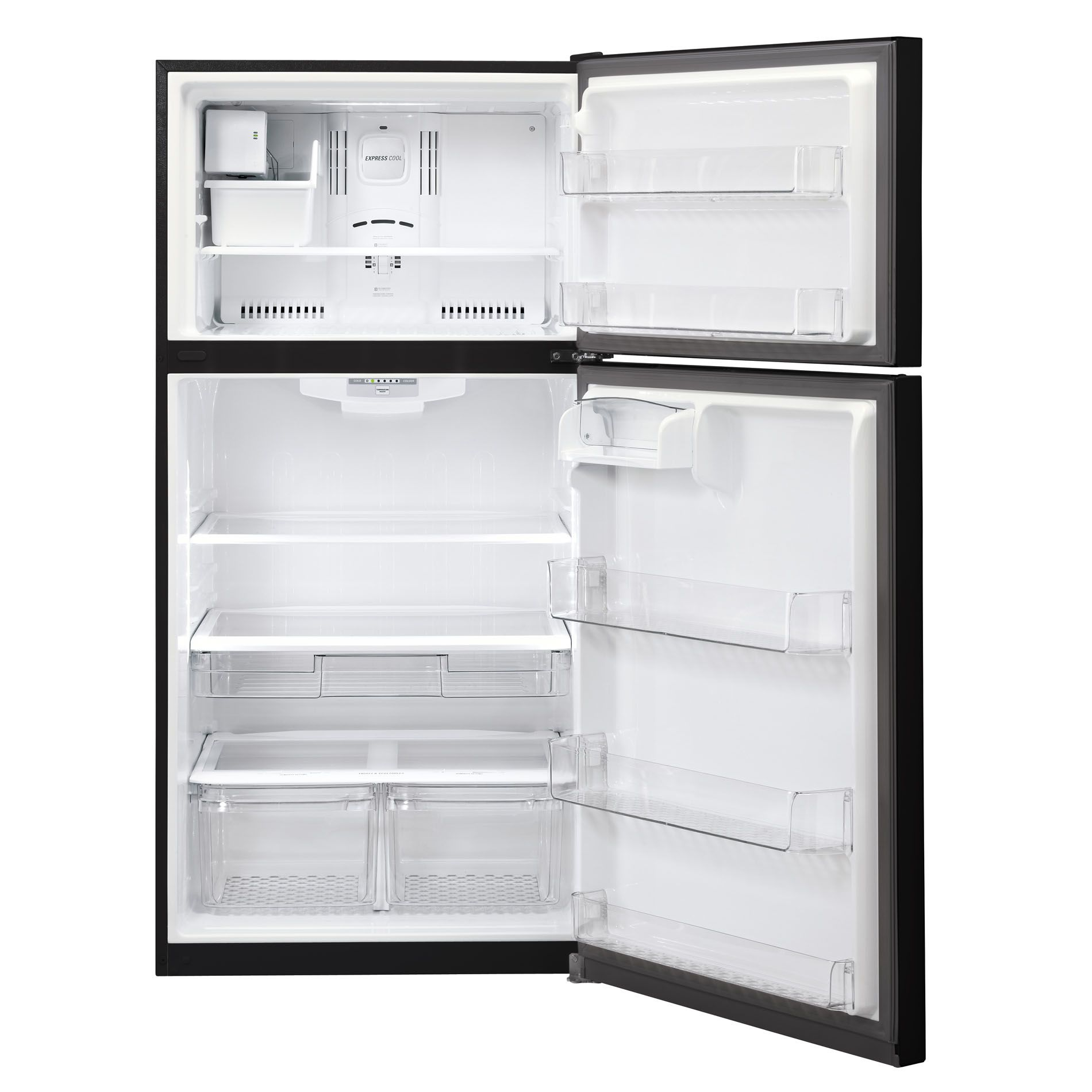 LG 24 cu. ft. Top-Freezer Refrigerator — Black