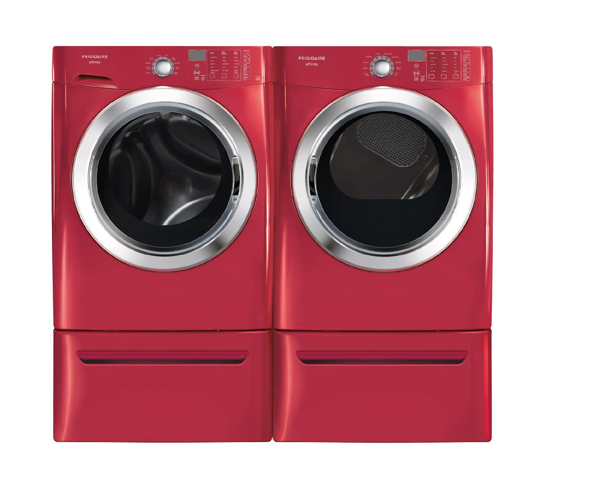 Frigidaire 7.0 cu. ft. Ready Steam™ Electric Dryer w/ Stainless Steel Drum - Classic Red