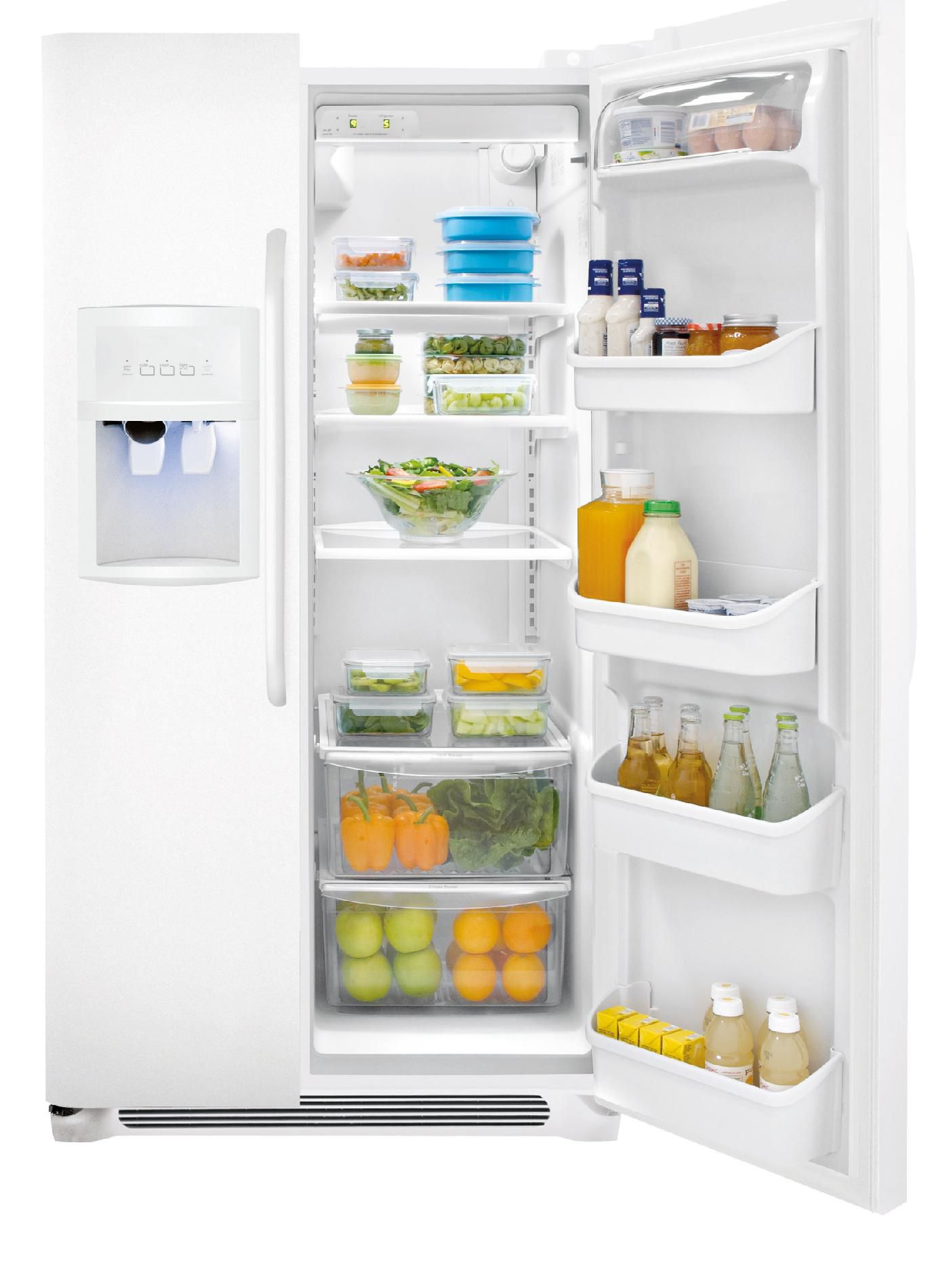 A well-known brand 26 cu. ft. Side-by-Side Refrigerator - White