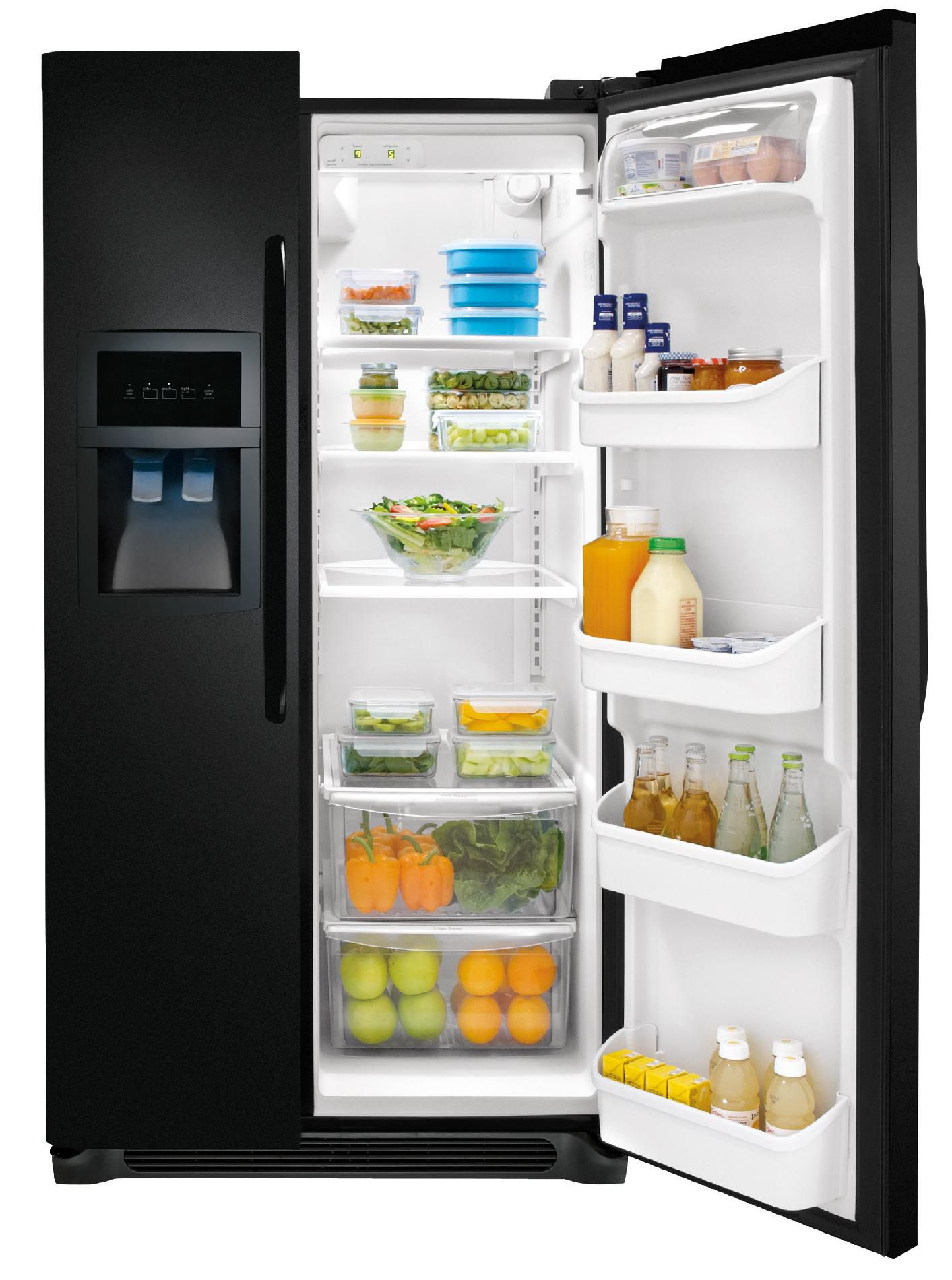 FRIGIDAIRE  26 cu. ft. Side-by-Side Refrigerator - Black