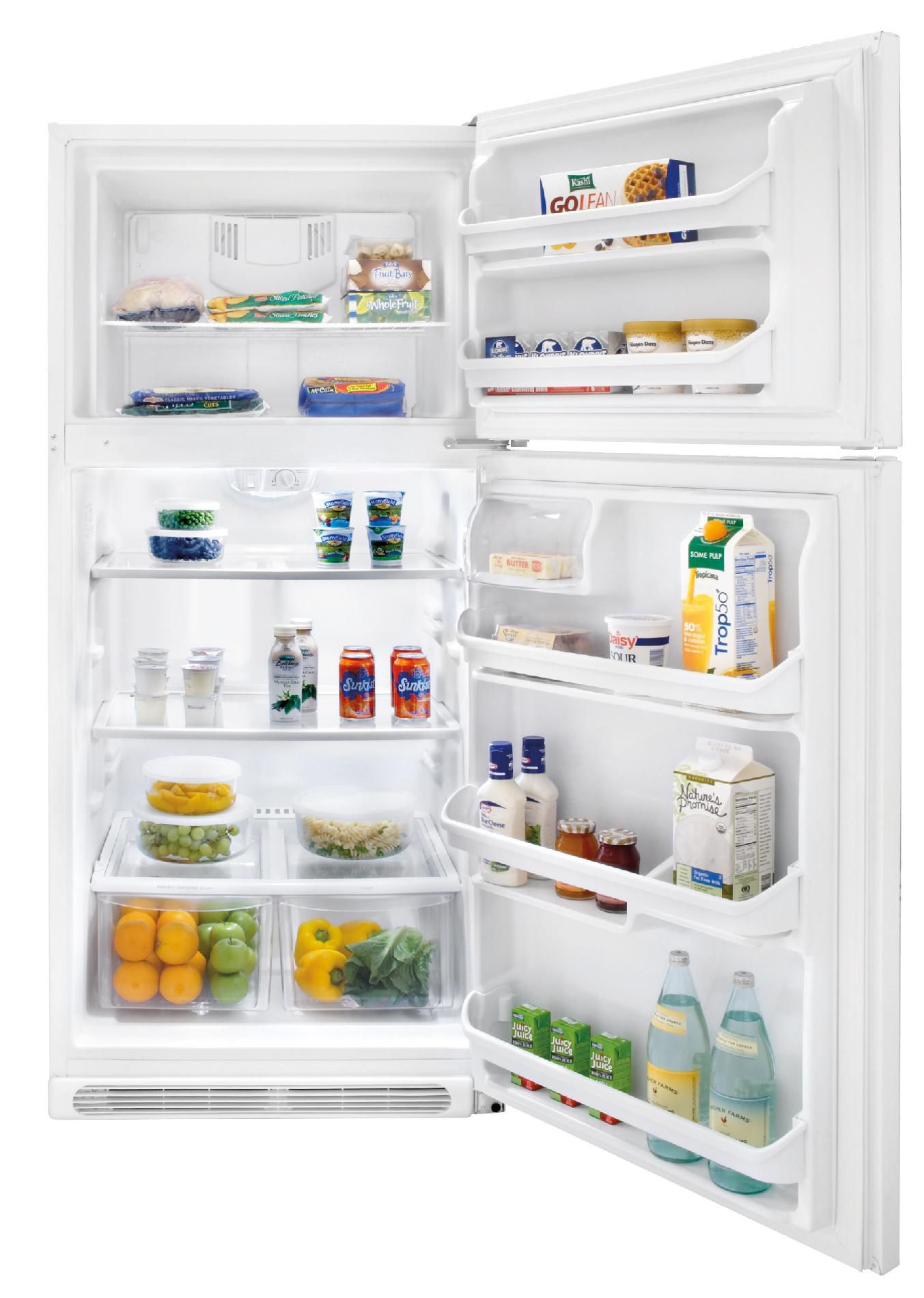 A well-known brand 20.6 cu. ft Top-Freezer Refrigerator - White