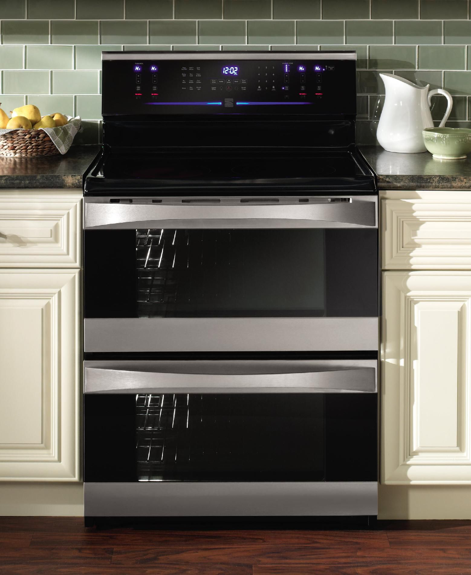 Kenmore Elite 7.0 cu. ft. Double-Oven Electric Range - Stainless Steel