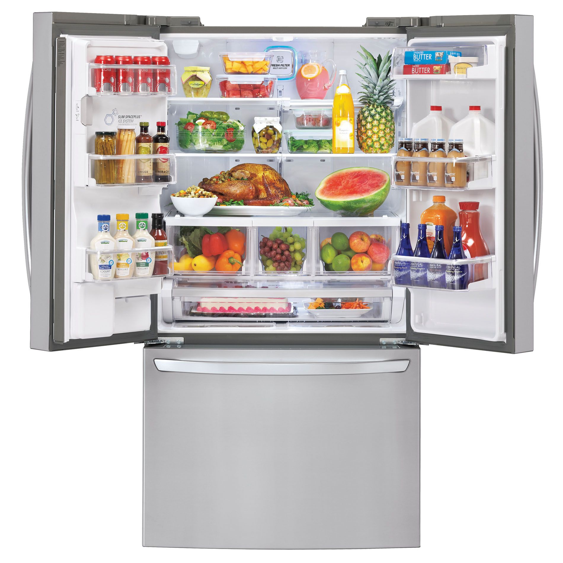 LG 33 cu. ft.  French Door Bottom-Freezer Refrigerator w/ Smart Cooling Plus - Stainless Steel
