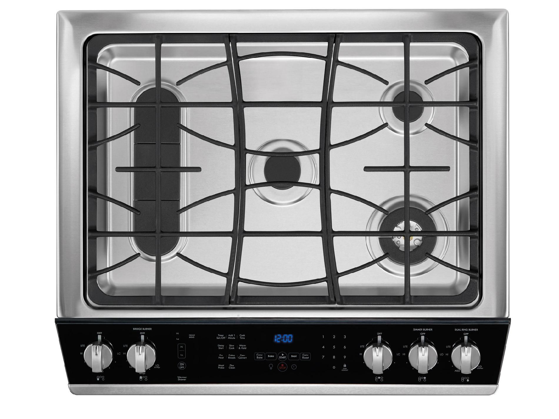 Kenmore Elite 4.6 cu. ft. Slide-In Dual Fuel Range - Stainless Steel