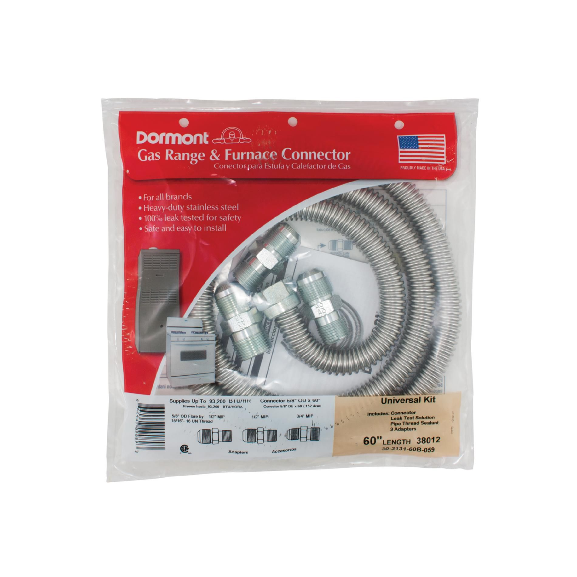 "Amana Gas Range Installation Kit, 60"" Connector"