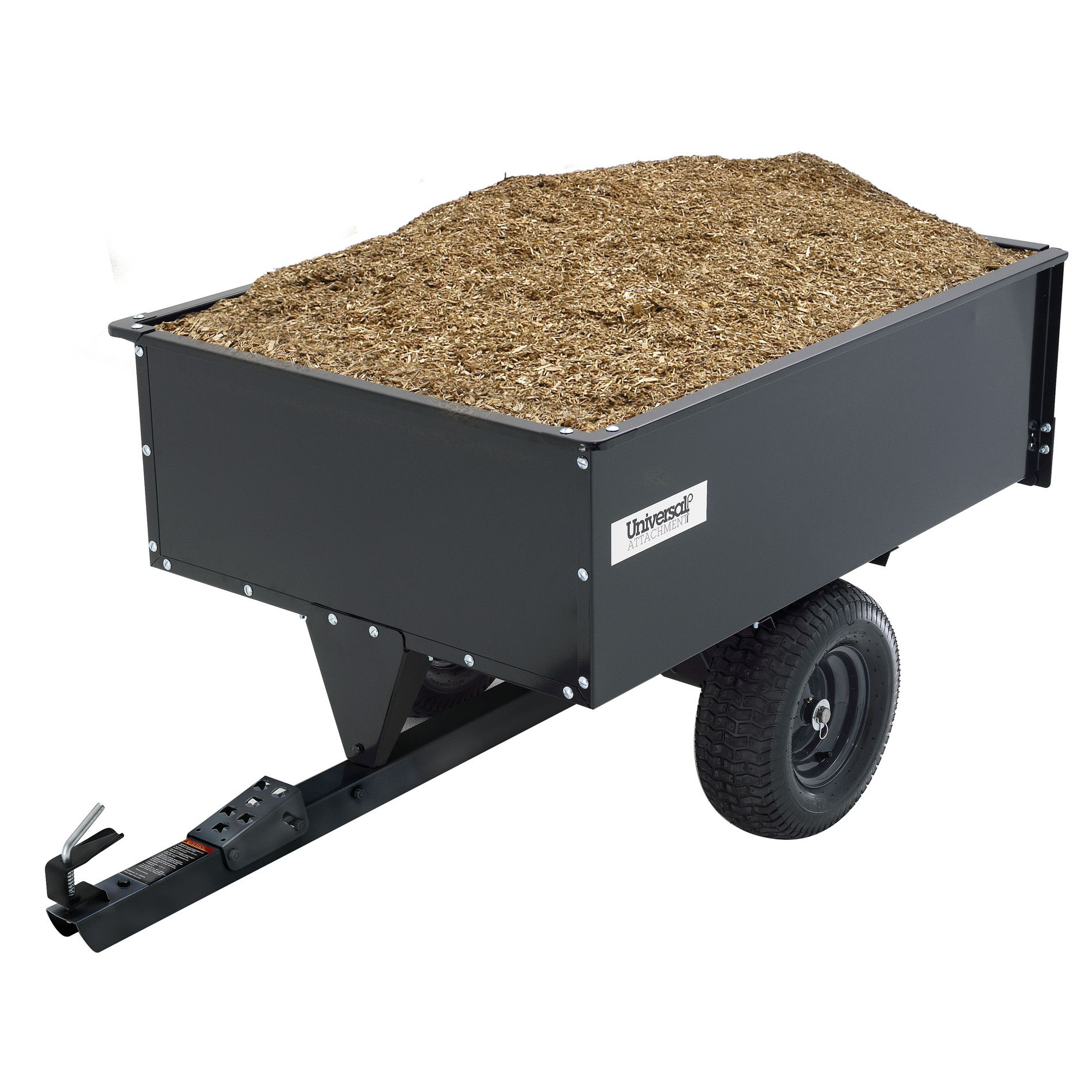Universal 16 Cu Ft Steel Swivel Dump Cart