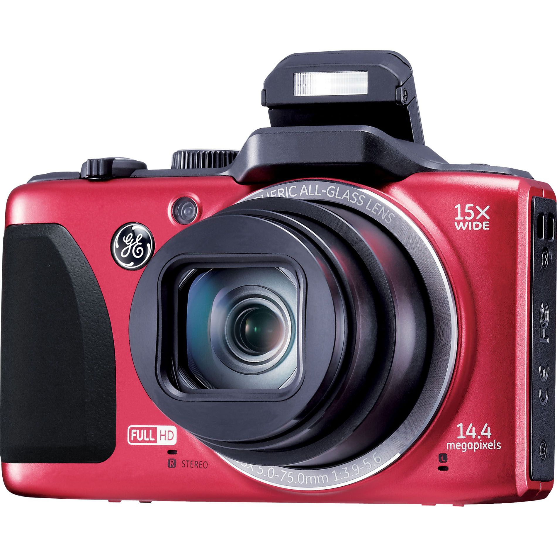 GE 14MP Power Pro Digital Camera G100 - Red