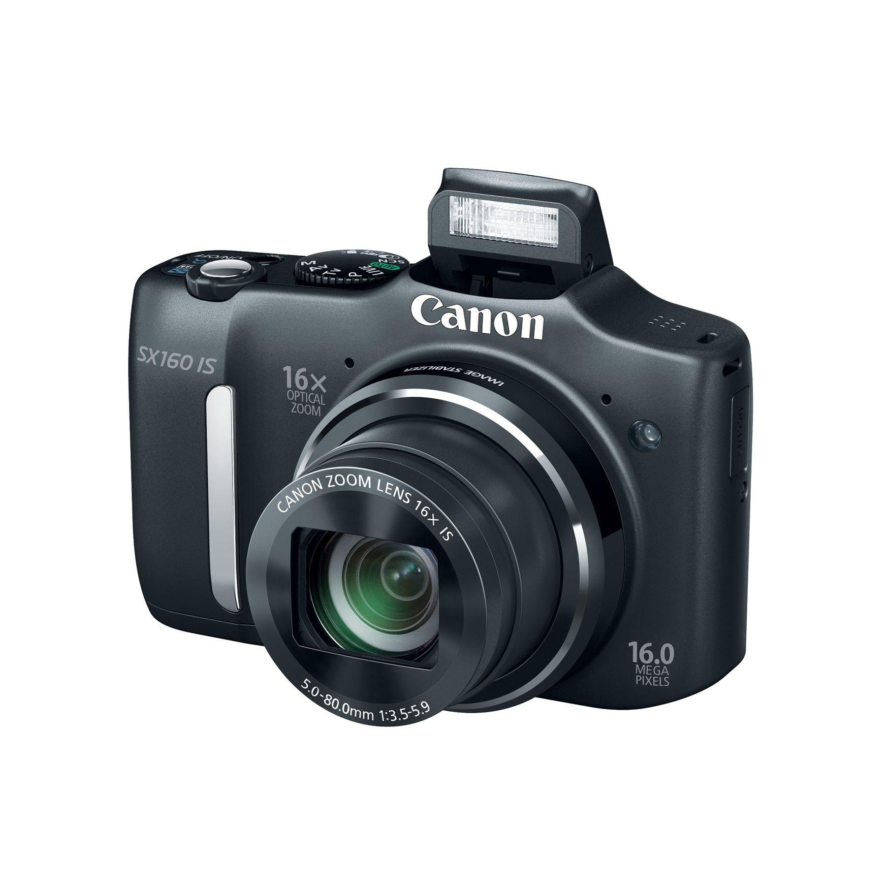 Canon PowerShot SX160 IS Digital Camera - Black