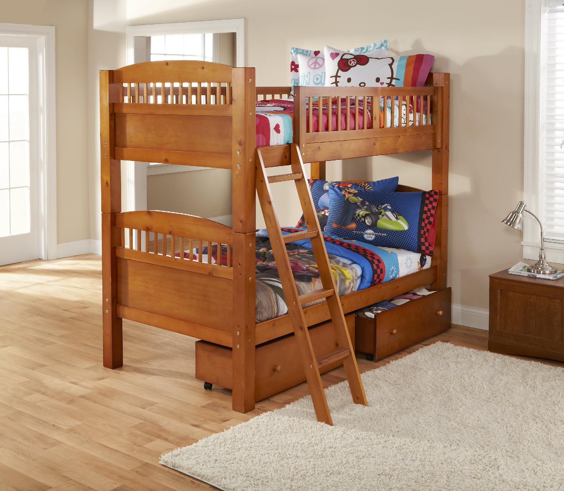Dorel Home Furnishings Bunk Bed Pine