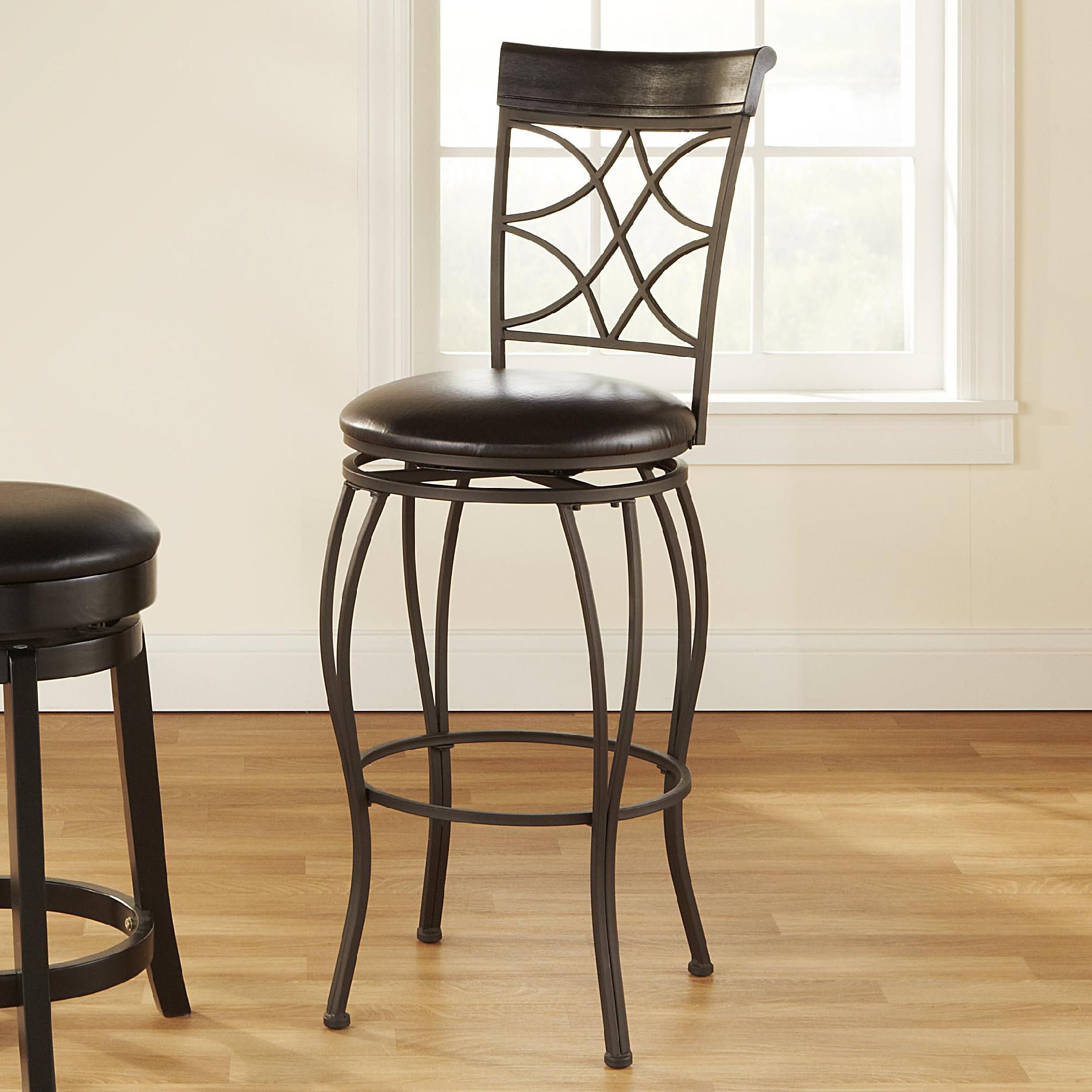 Linon Metal and Wood 29'' Barstool