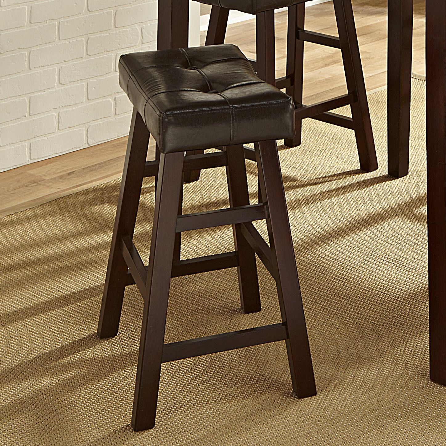Tufted Saddle 24'' Counter Stool