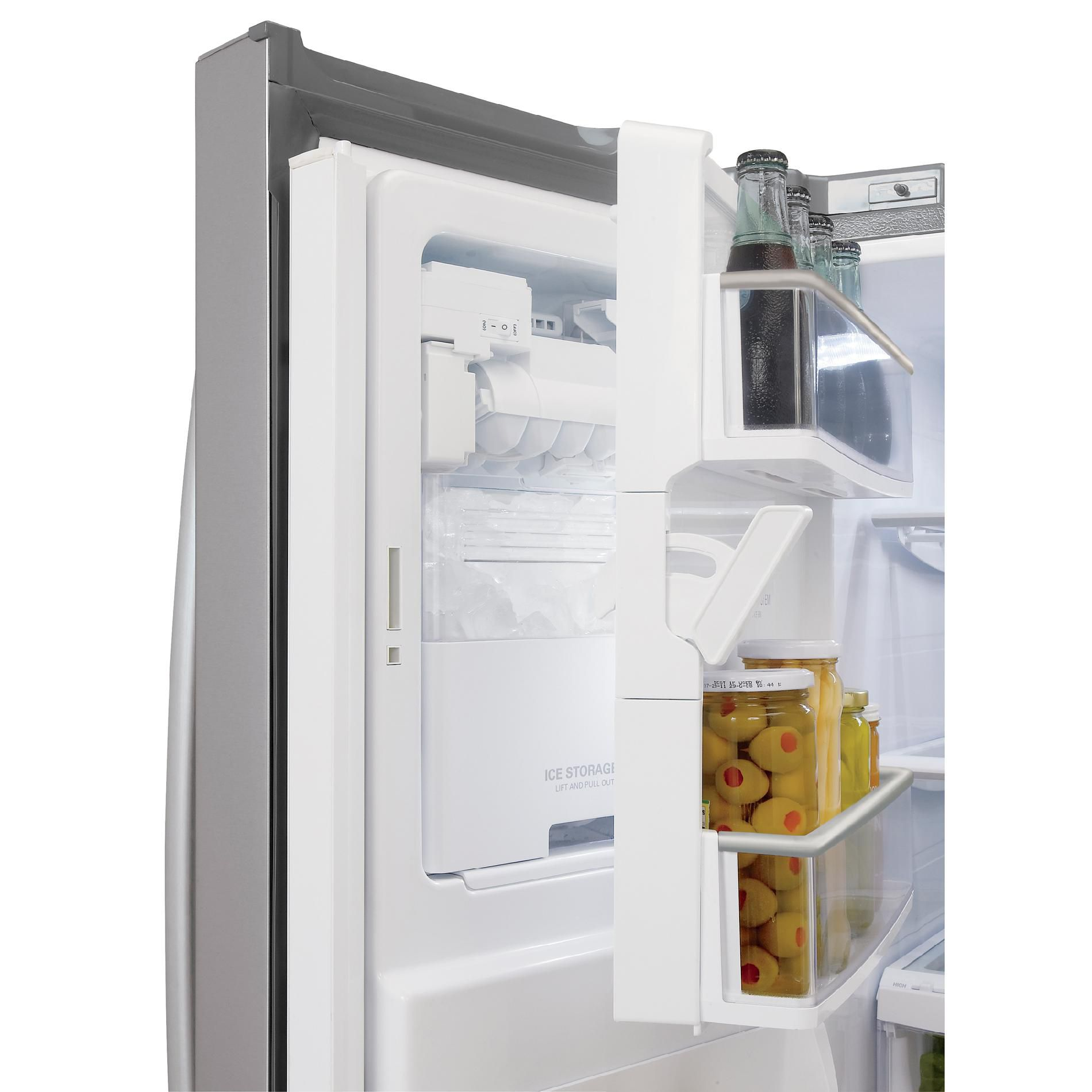 LG 27.6 cu. ft.  French Door Bottom-Freezer Refrigerator - Stainless Steel