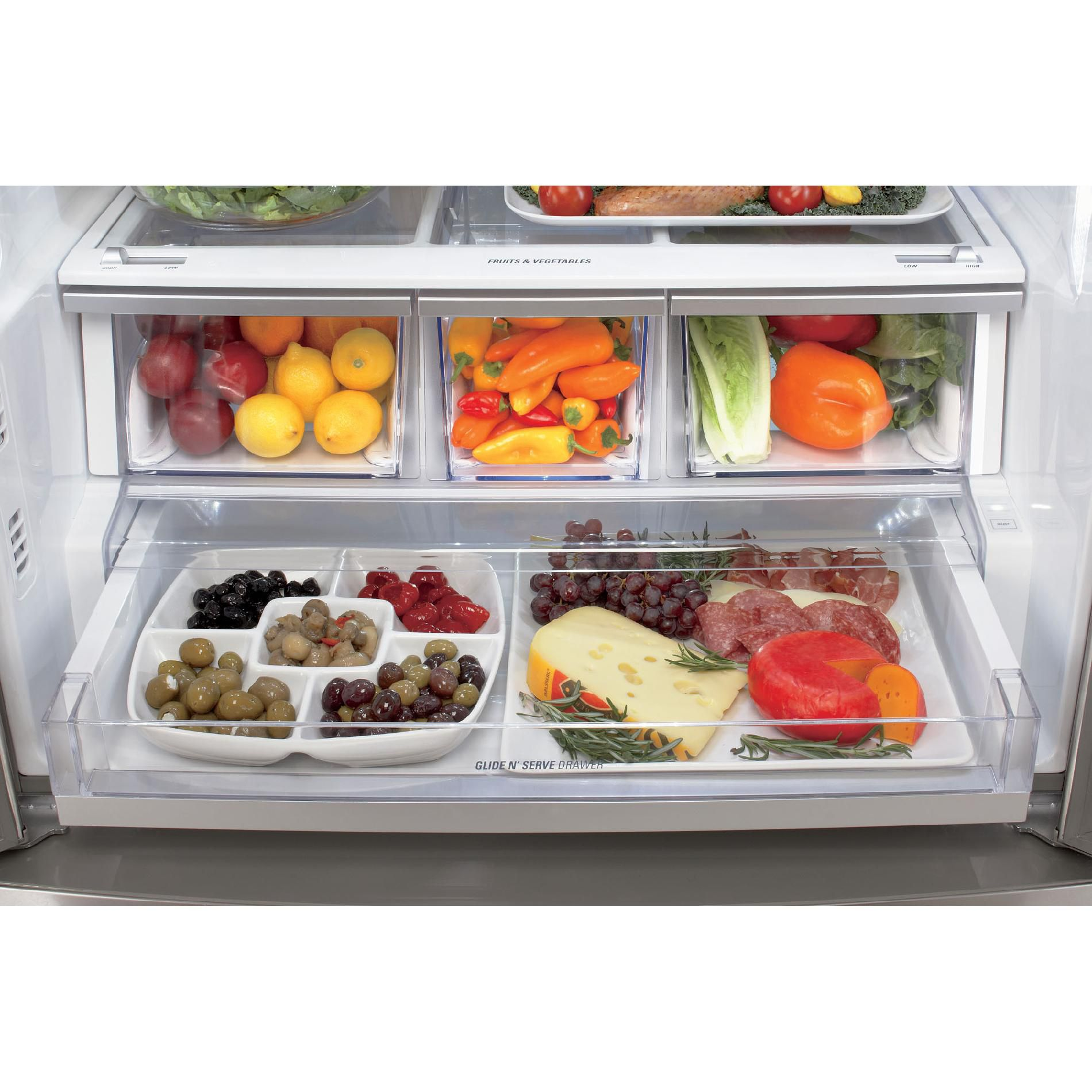 LG 24 6 cu. ft.  Counter-Depth French Door Bottom-Freezer Refrigerator - Stainless Steel