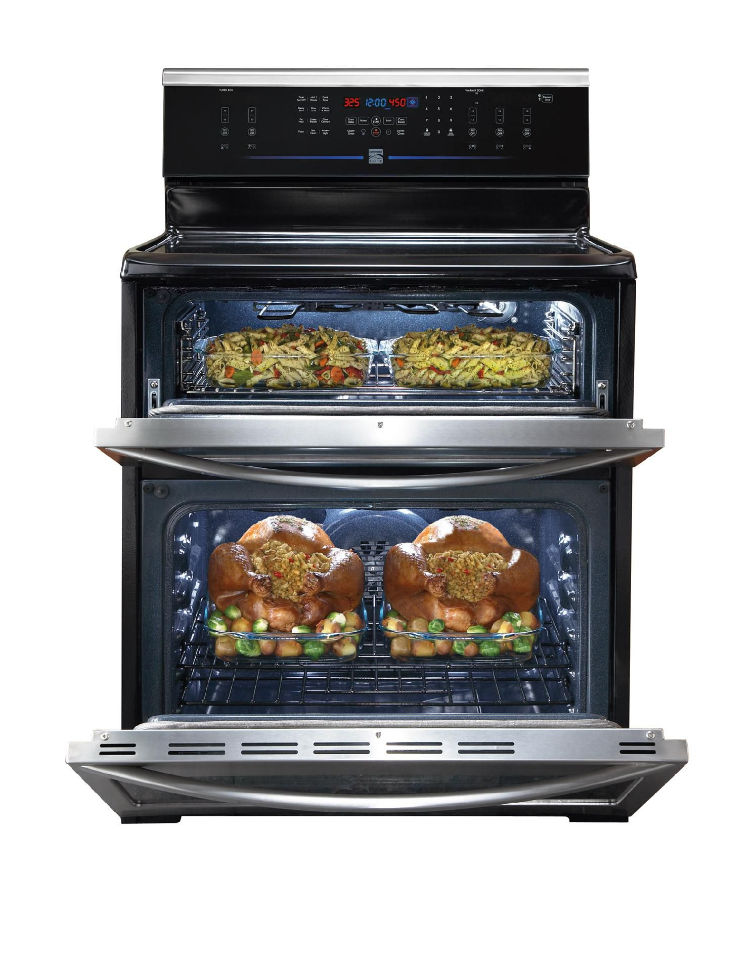Kenmore Elite 6.64 cu. ft. Double-Oven Electric Range w/ Convection - Stainless Steel