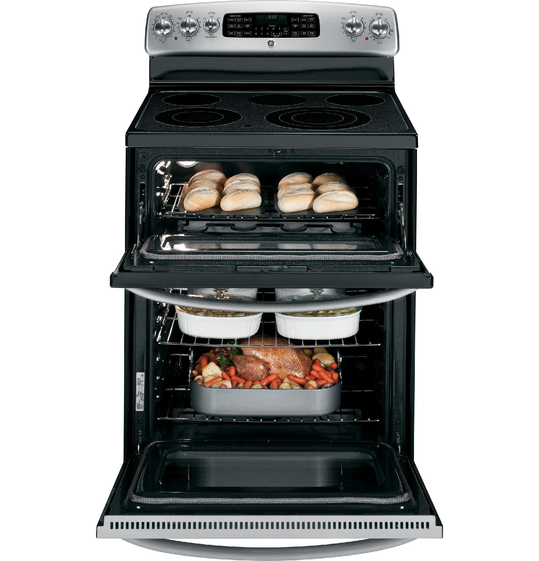 GE 4.2 cu. ft. Electric Range w/ Double-Oven - Stainless Steel