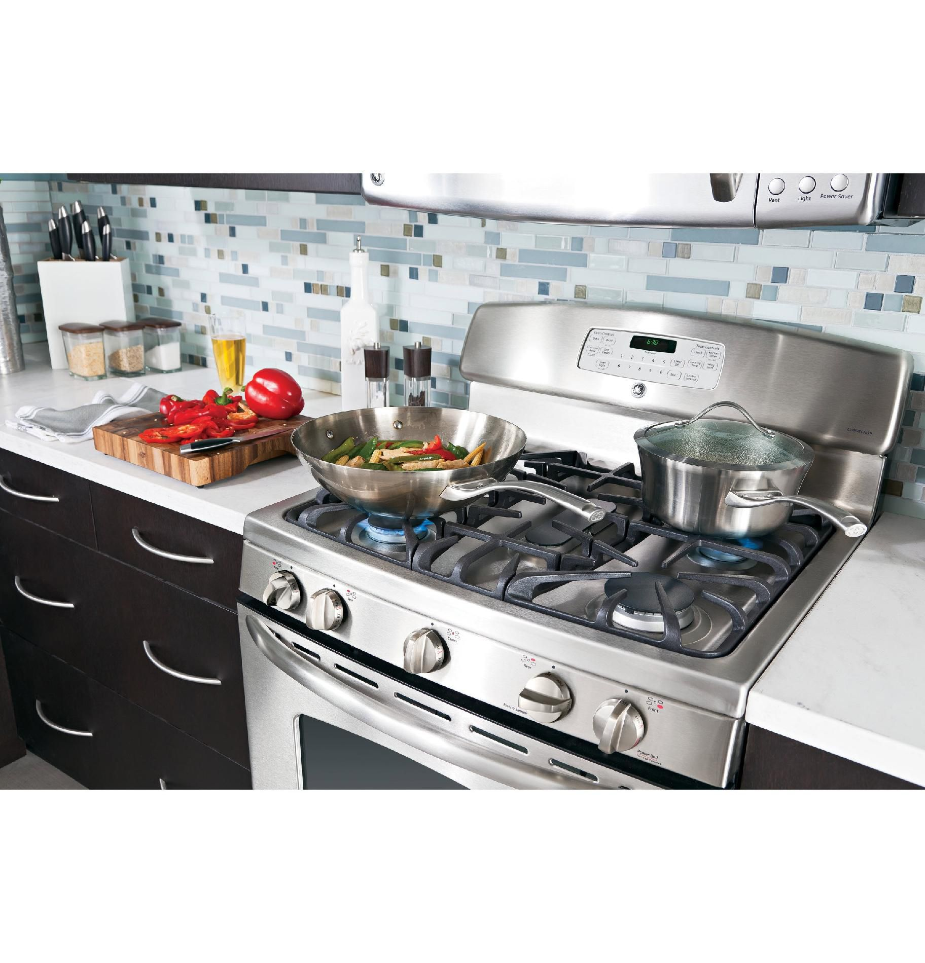 GE 5.0 cu. ft. Freestanding Gas Range w/ Convection - Stainless Steel