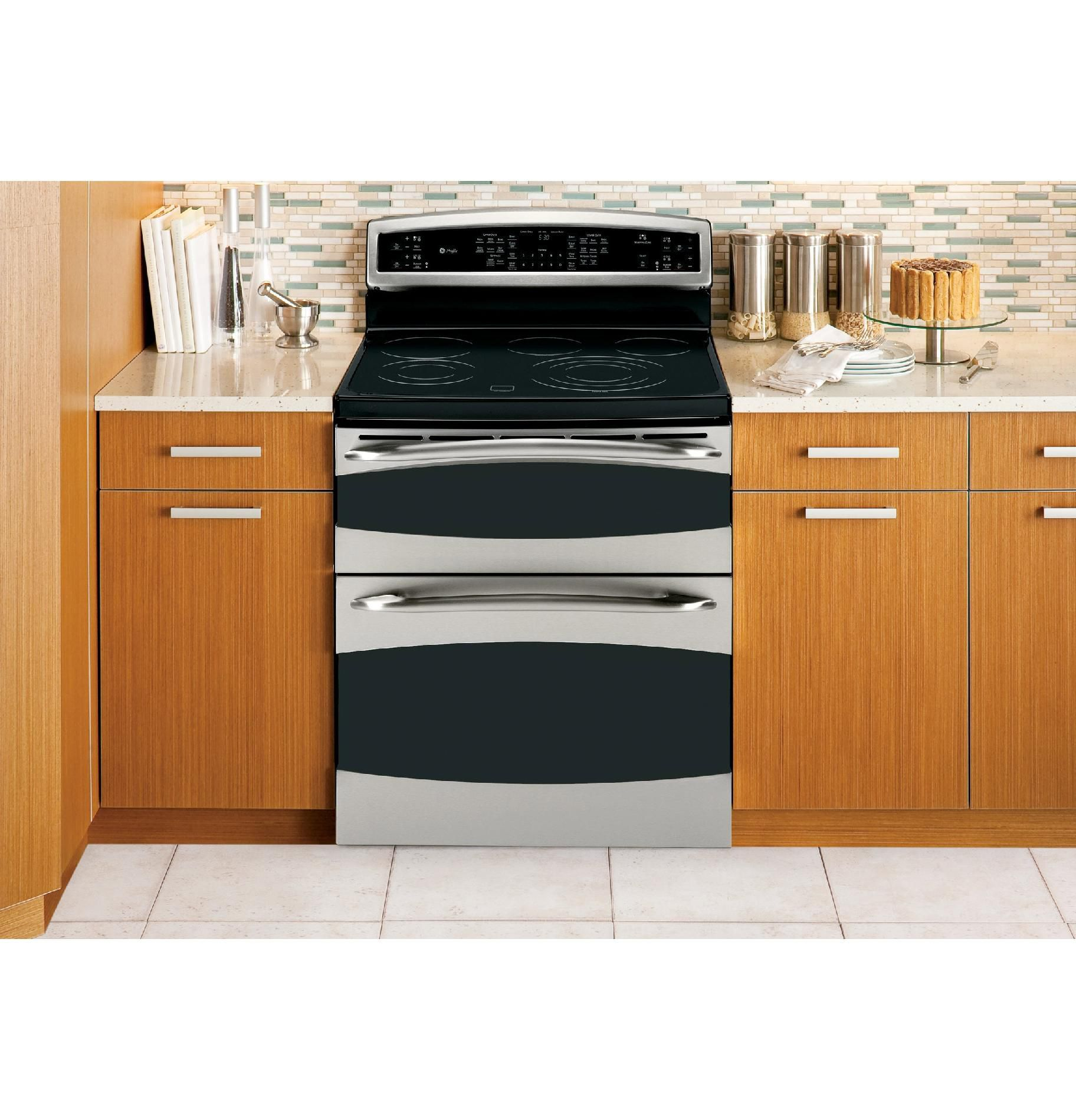 GE Profile Profile™ Series 6.6 cu. ft. Electric Range w/ Double Convection Oven - Stainless Steel