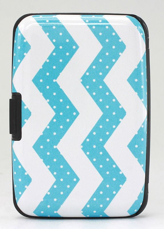 Total Vision Card Guard Wallet- Chevron/Dots Design