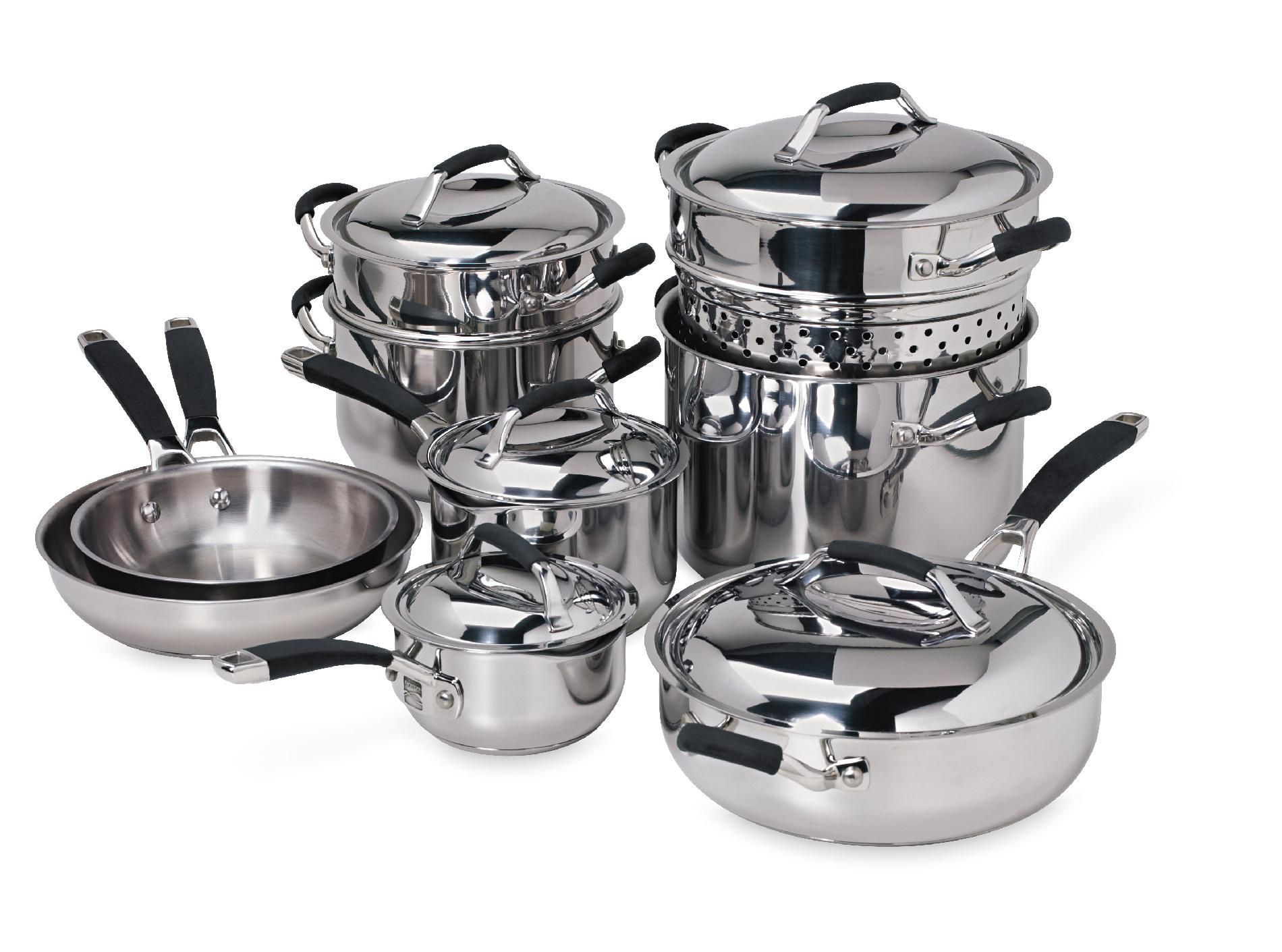 Kenmore 14Pc Stainless Steel Cookware Set