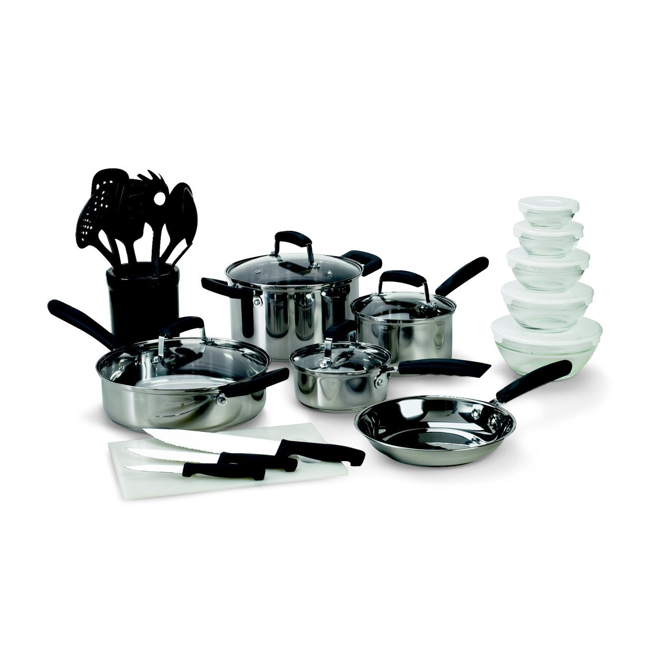 Basic Essentials 25 pc Stainless Steel Mega Set