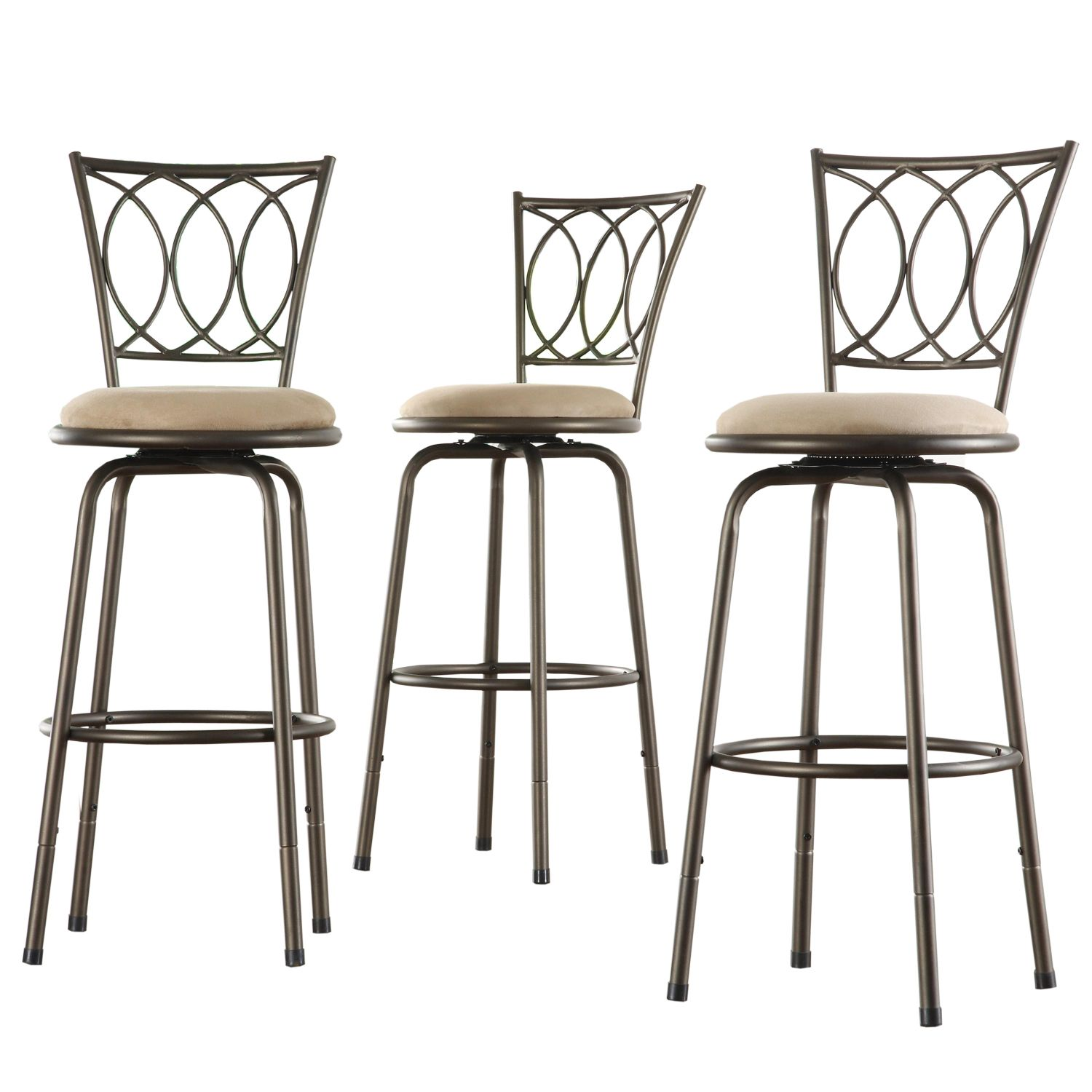 Oxford Creek Scroll Back Barstools (Set of 3)