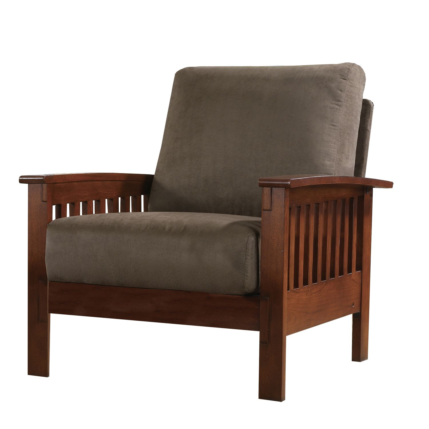 Oxford Creek Mission-style Oak and Olive Chair