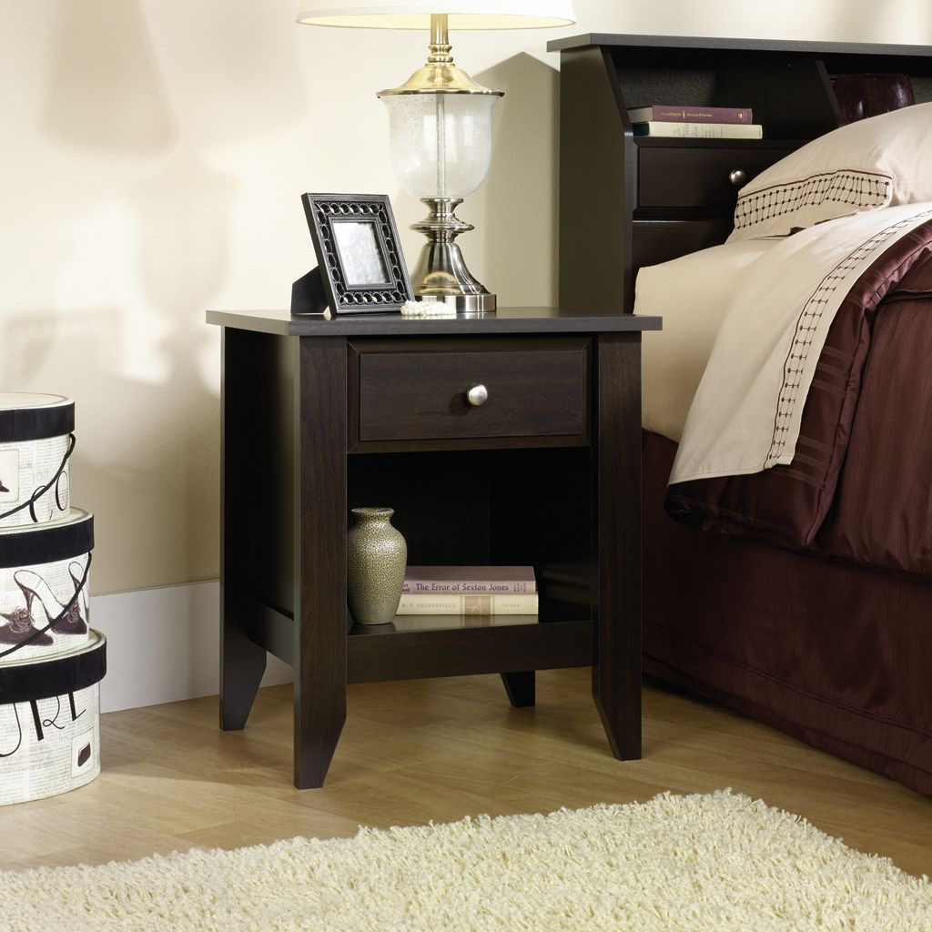 Sauder Shoal Creek Nightstand Black