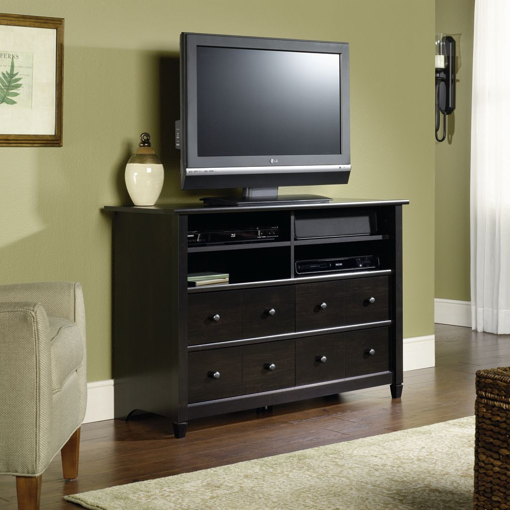 Sauder Edgewater High Boy TV Stand Black