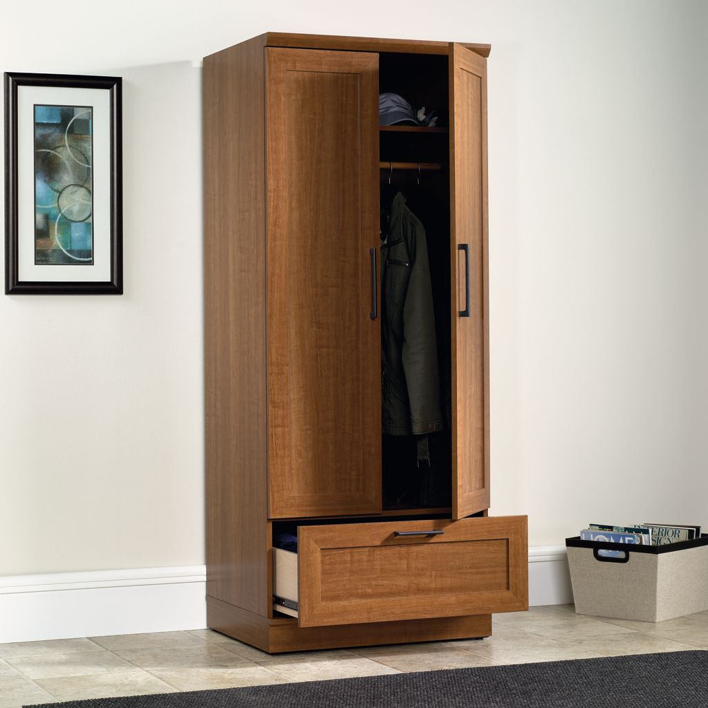 Sauder Home Plus Storage Cabinet with Drawer Brown