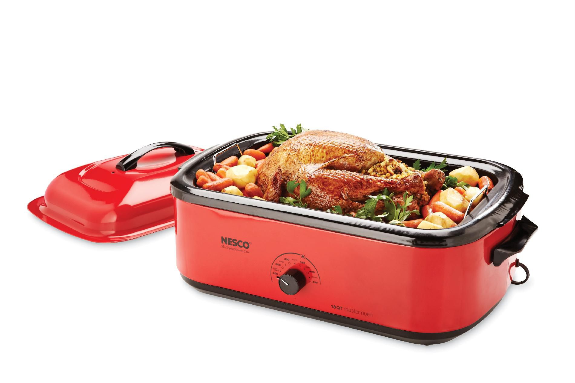 Nesco Classic Roaster Oven, 18-Quart, Porcelain Cookwell