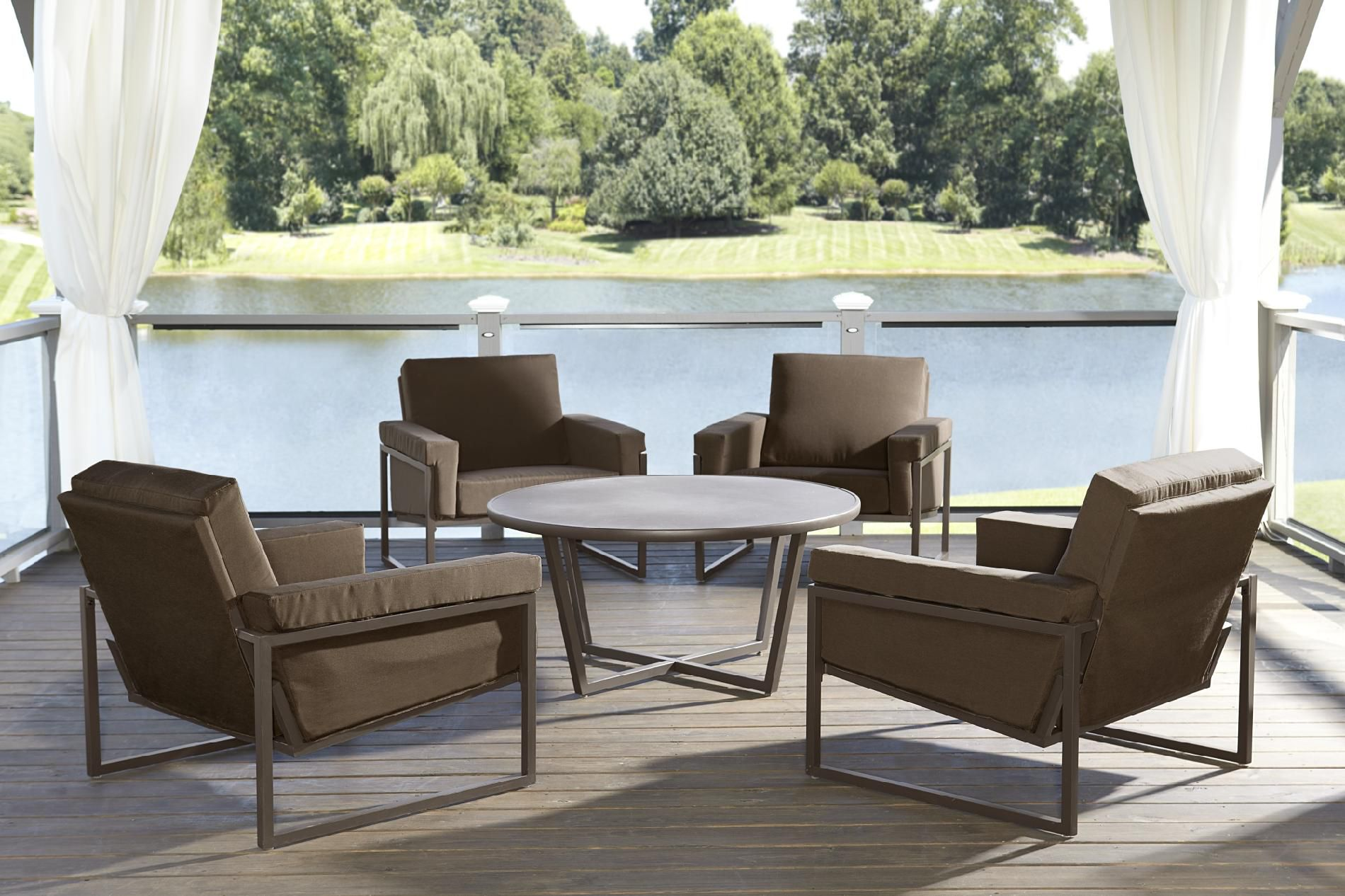 Grand Resort Batten 5pc Chat Set