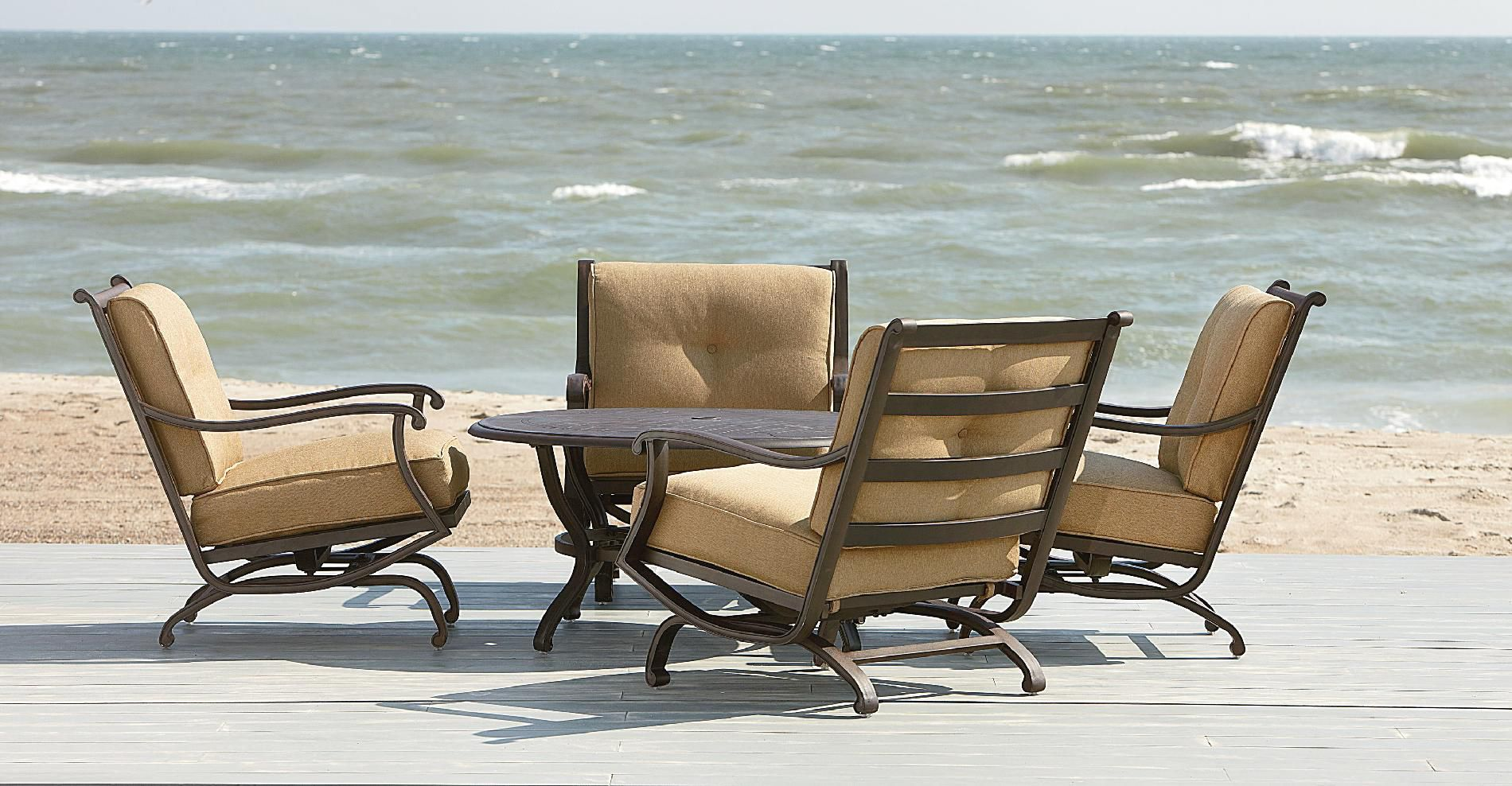 Grand Resort Heritage 5pc Chat Set - Steel