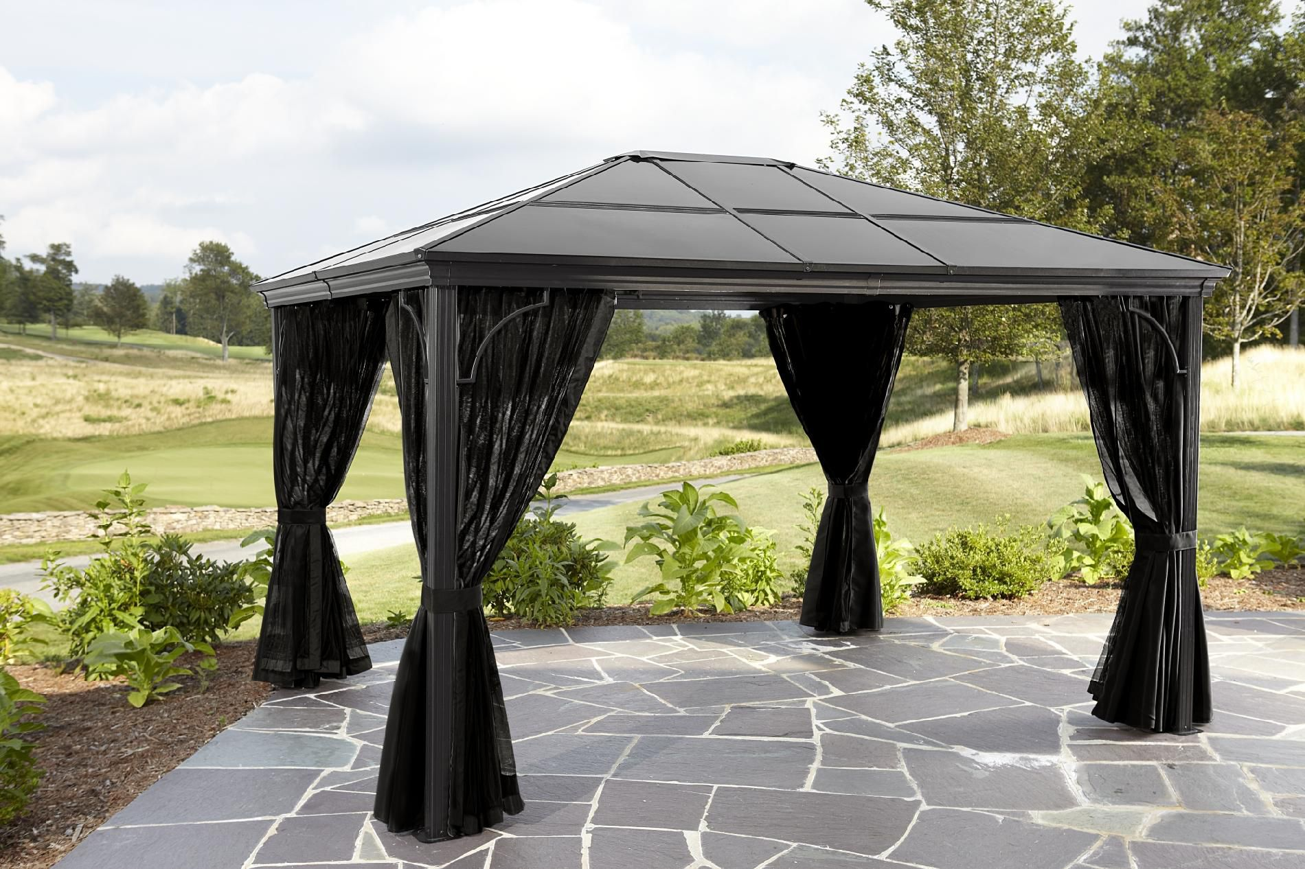 Grand Resort Nevada 10ft x 12ft Aluminum Panel Hard Top Gazebo *Limited Availability